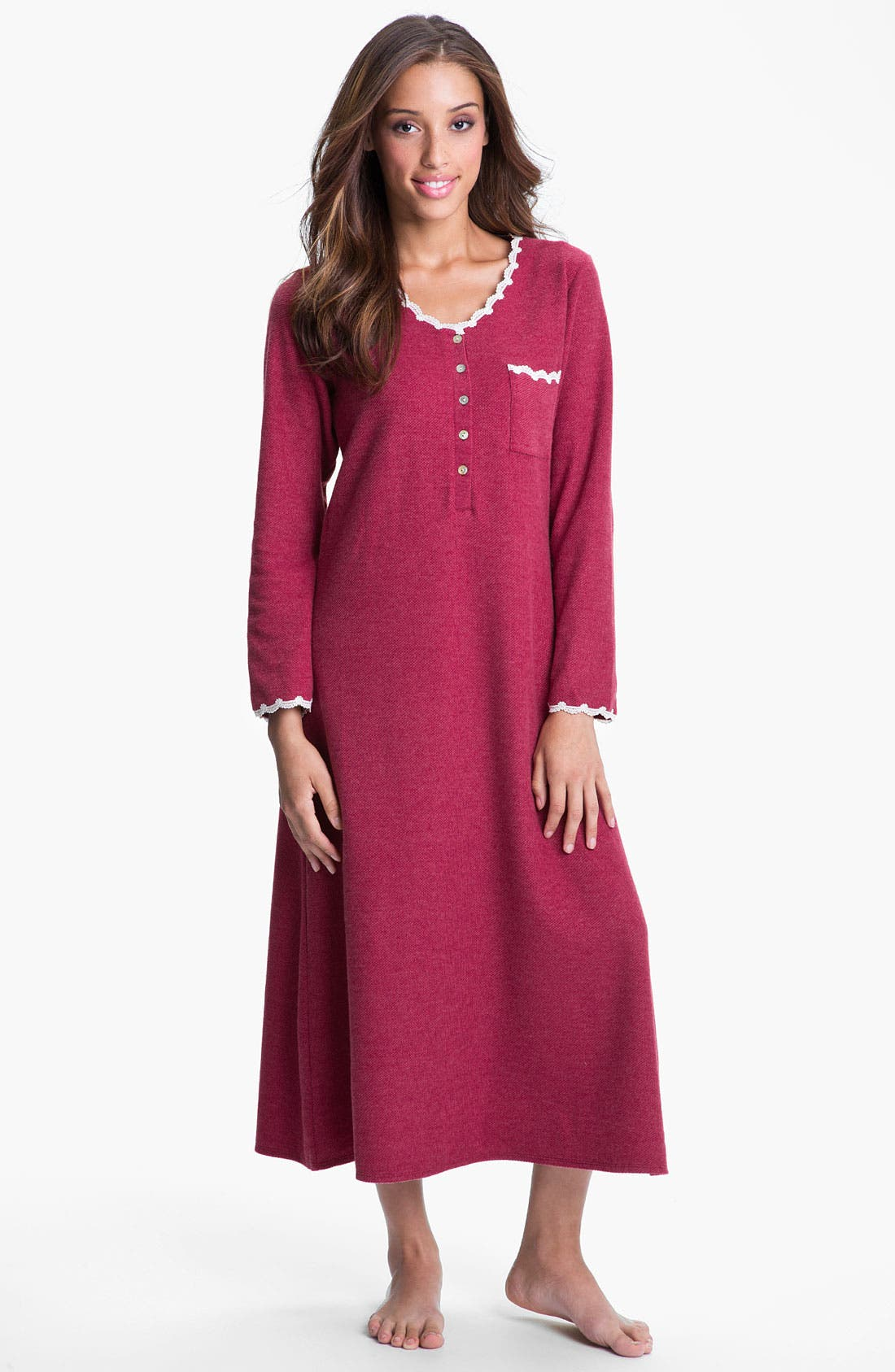 Main Image - Eileen West 'Winter Star' Thermal Knit Nightgown