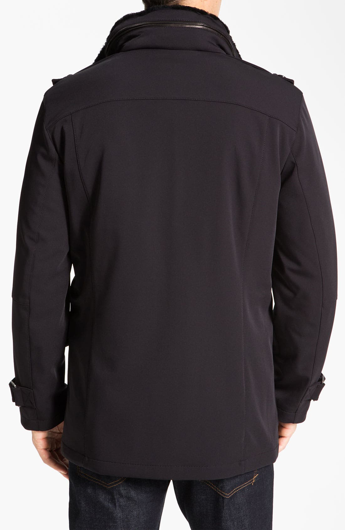 Alternate Image 2  - Cole Haan Water Resistant Jacket With Genuine Shearling Lining