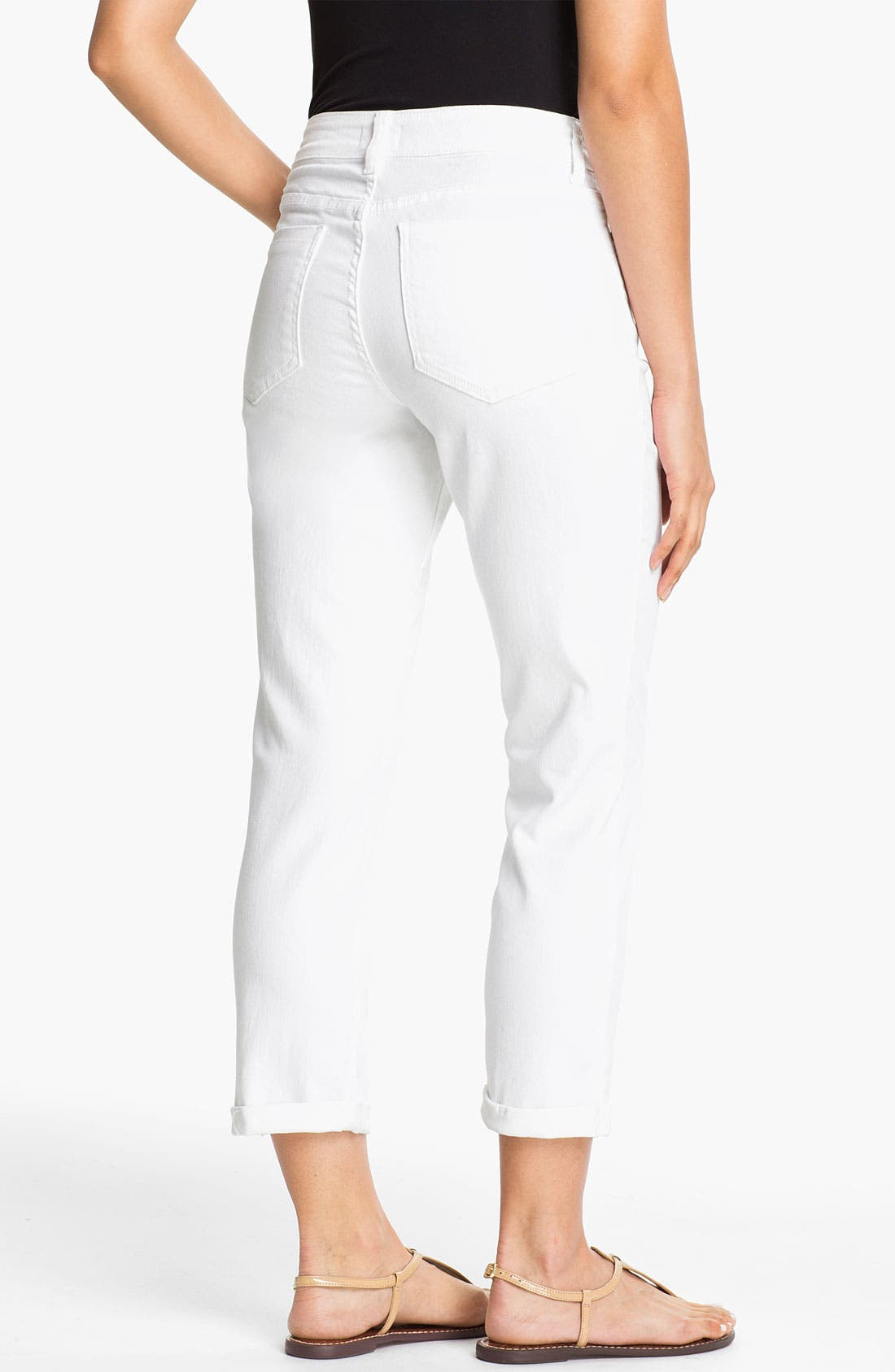 Alternate Image 2  - NYDJ 'Kendall' Roll Cuff Stretch Crop Jeans