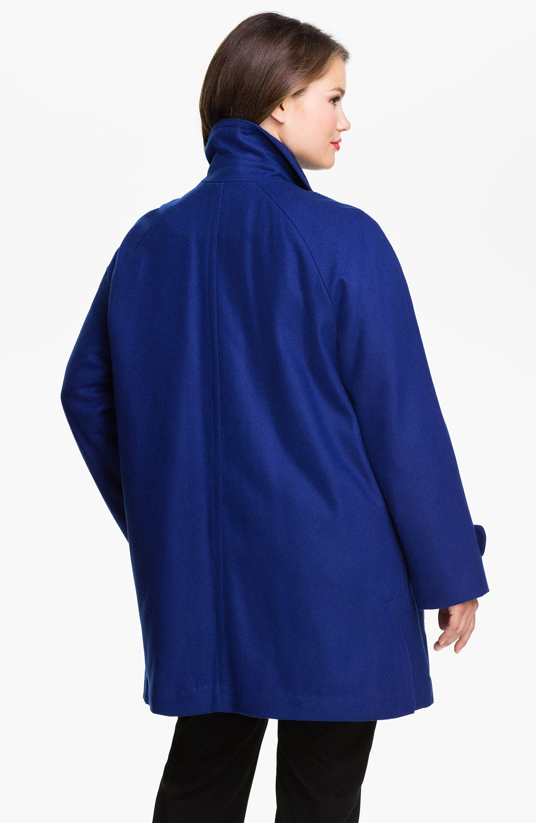 Alternate Image 2  - Ellen Tracy Fly Front Stadium Coat (Plus) (Nordstrom Exclusive)