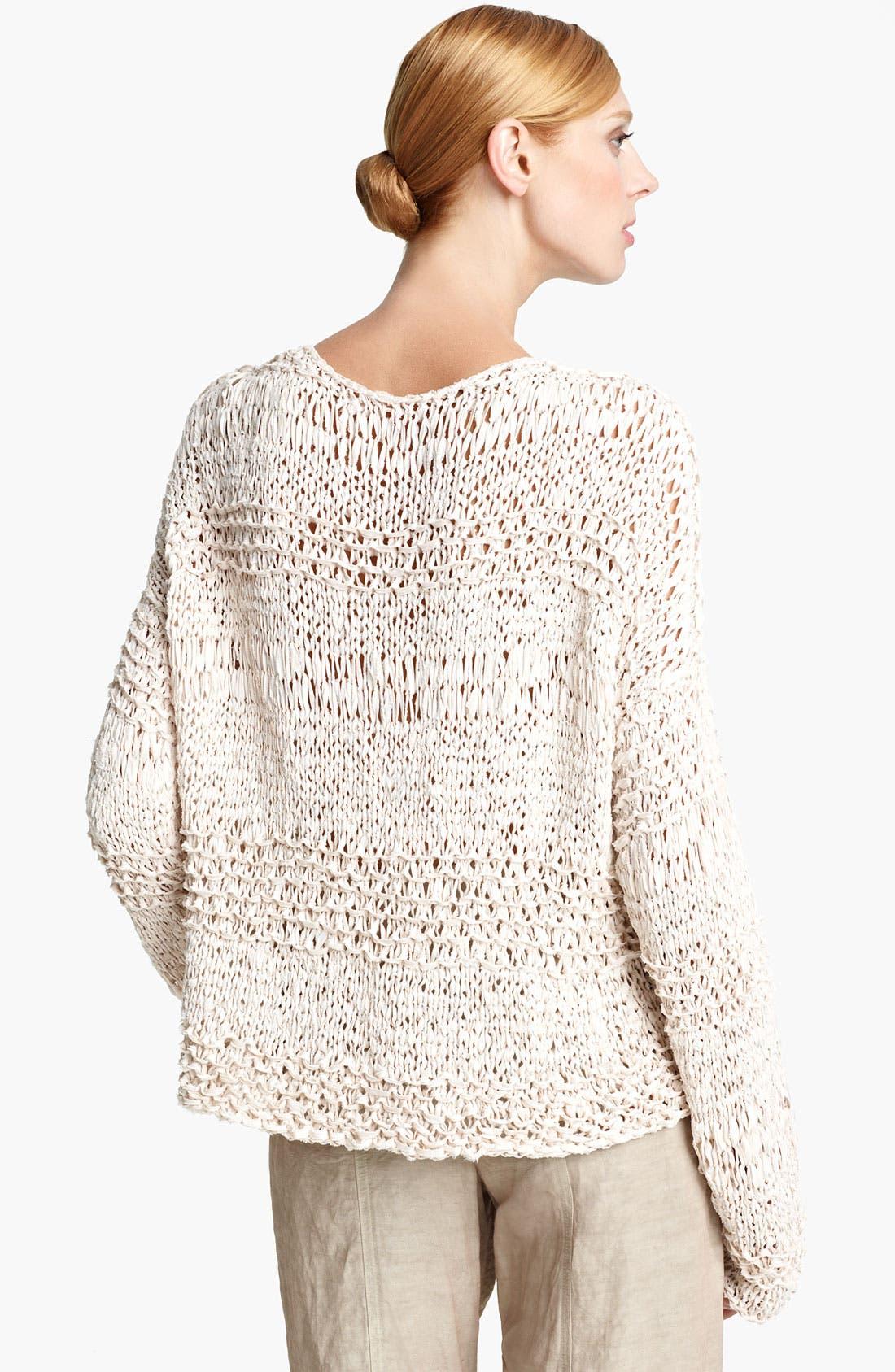 Alternate Image 2  - Donna Karan Collection Ribbon Knit Sweater