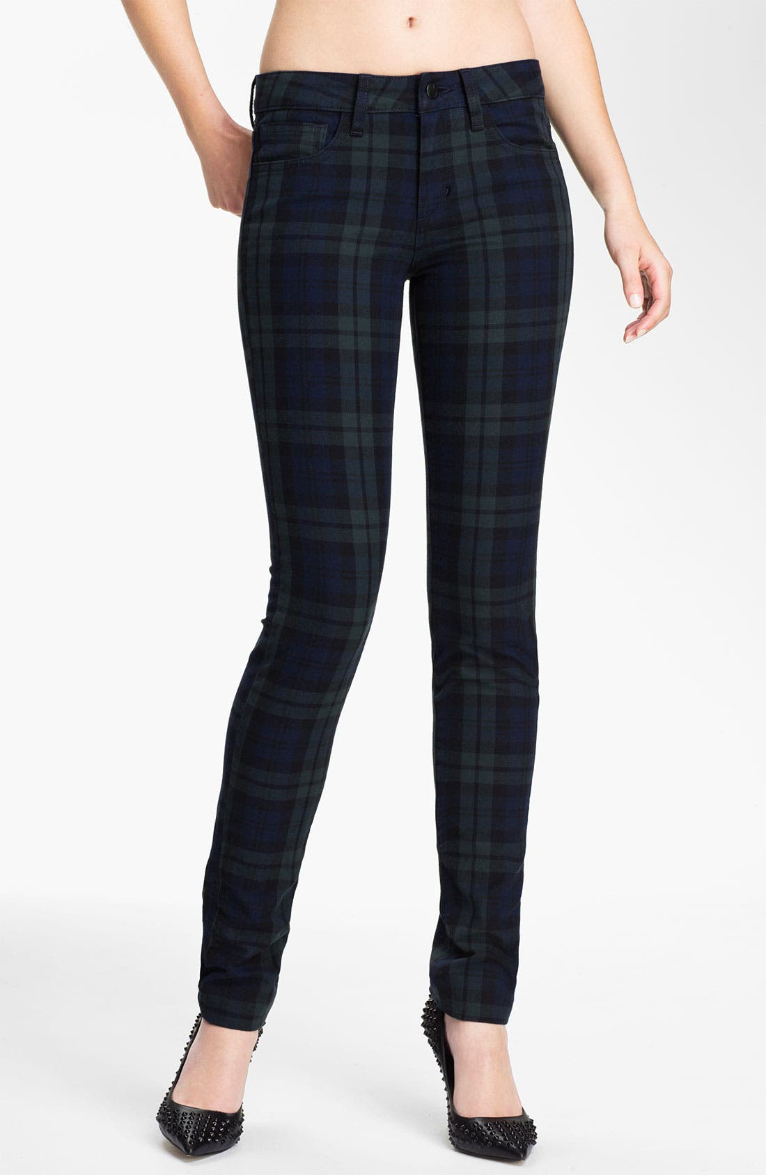 Main Image - Joe's Skinny Stretch Denim Jeans (School Yard Plaid)