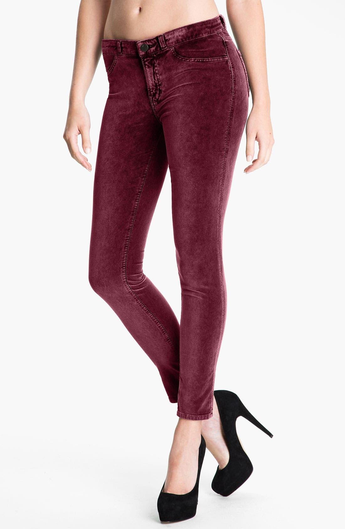 Alternate Image 1 Selected - J Brand Stretch Velvet Leggings