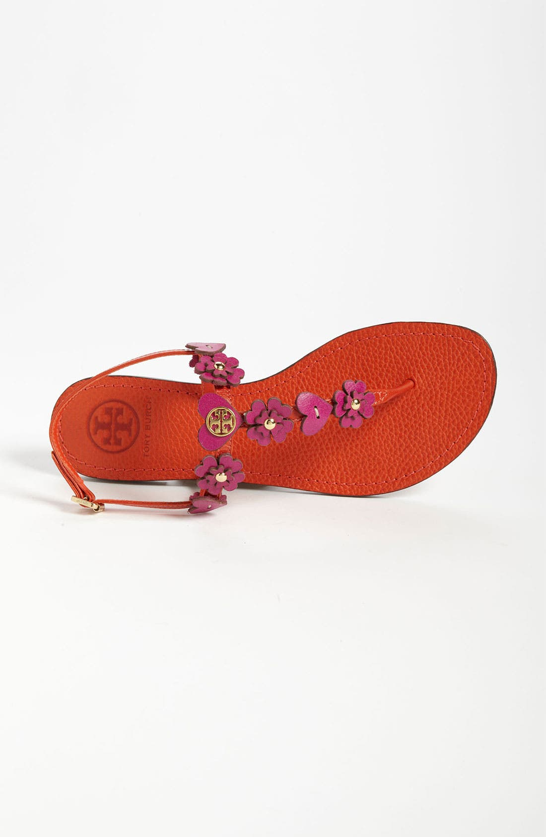 'Cori' Thong Sandal,                             Alternate thumbnail 4, color,                             Flame Red Party Fuchsia