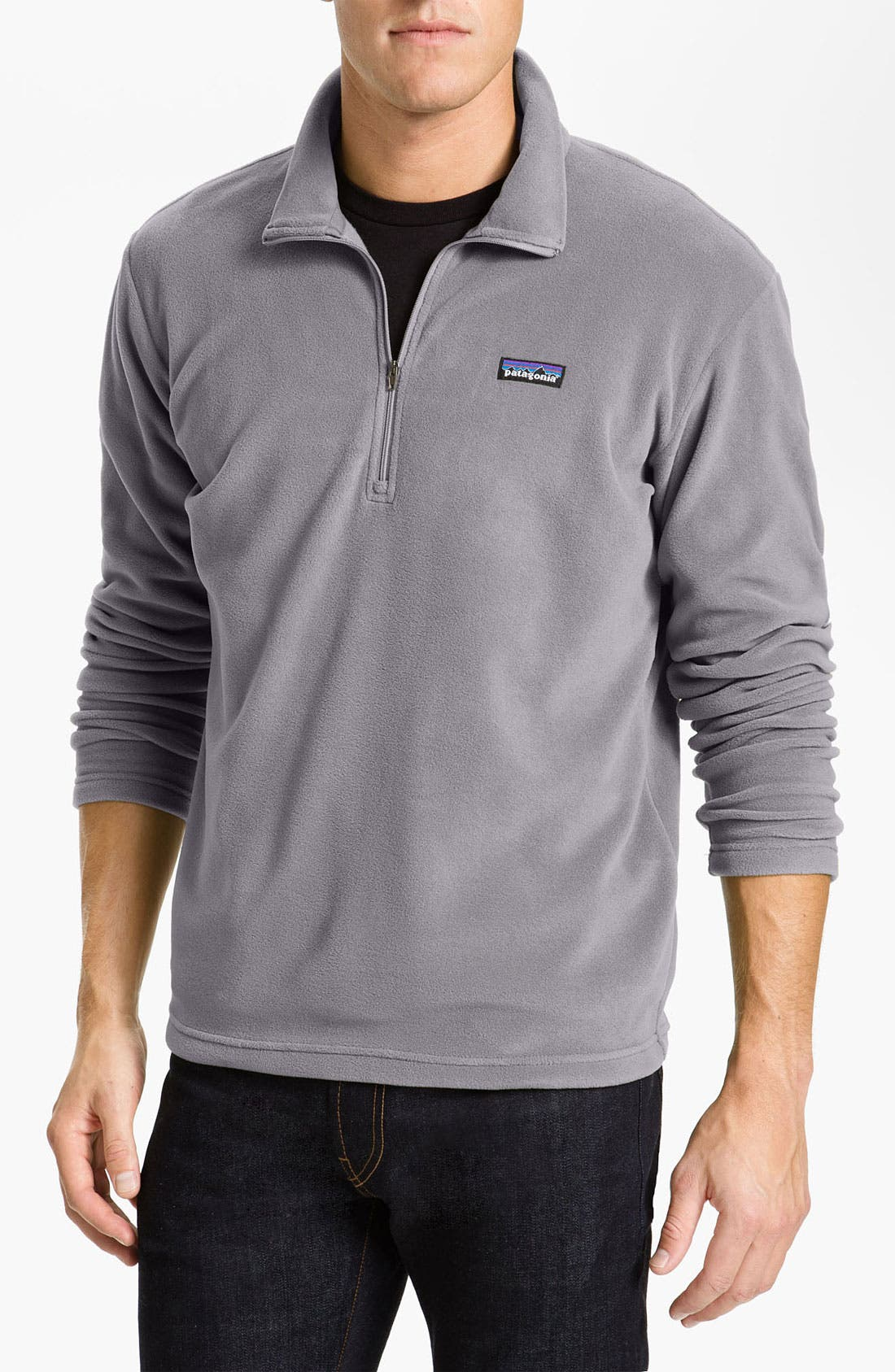 Alternate Image 1 Selected - Patagonia 'Micro D-Luxe' Fleece Quarter Zip Pullover