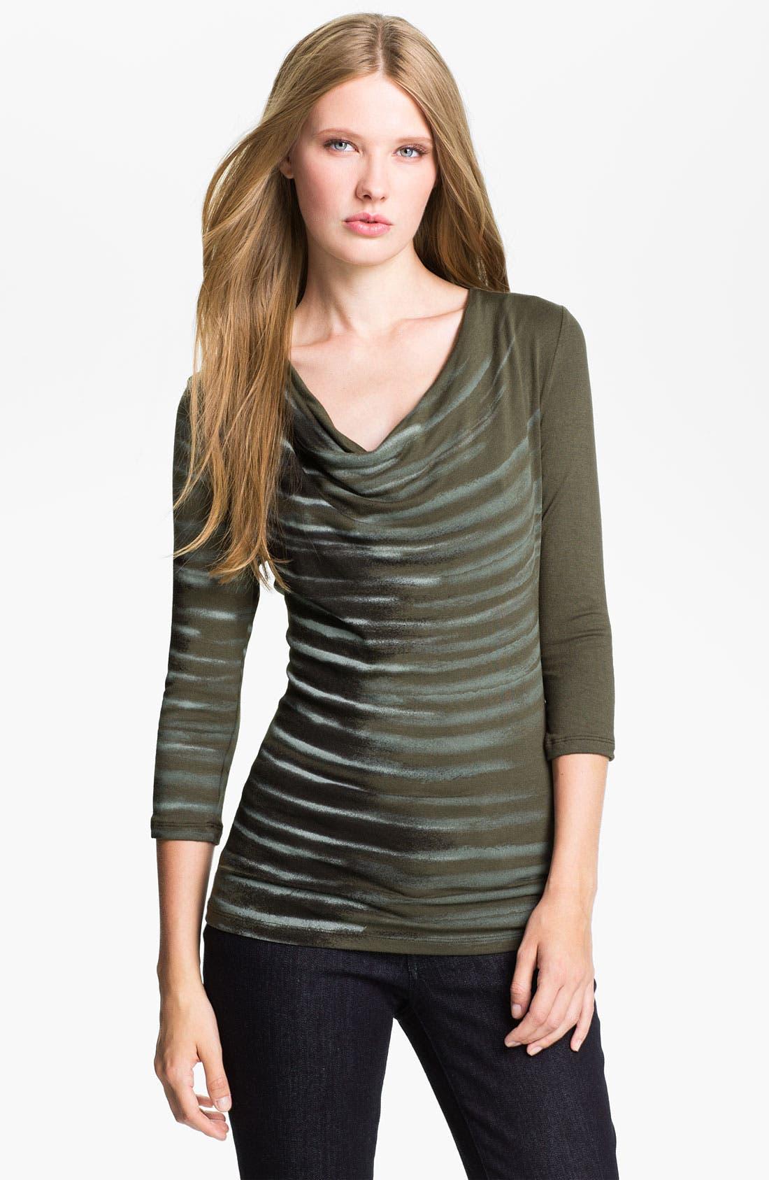 Alternate Image 1 Selected - Edista 'Elisa' Drape Neck Top (Petite)