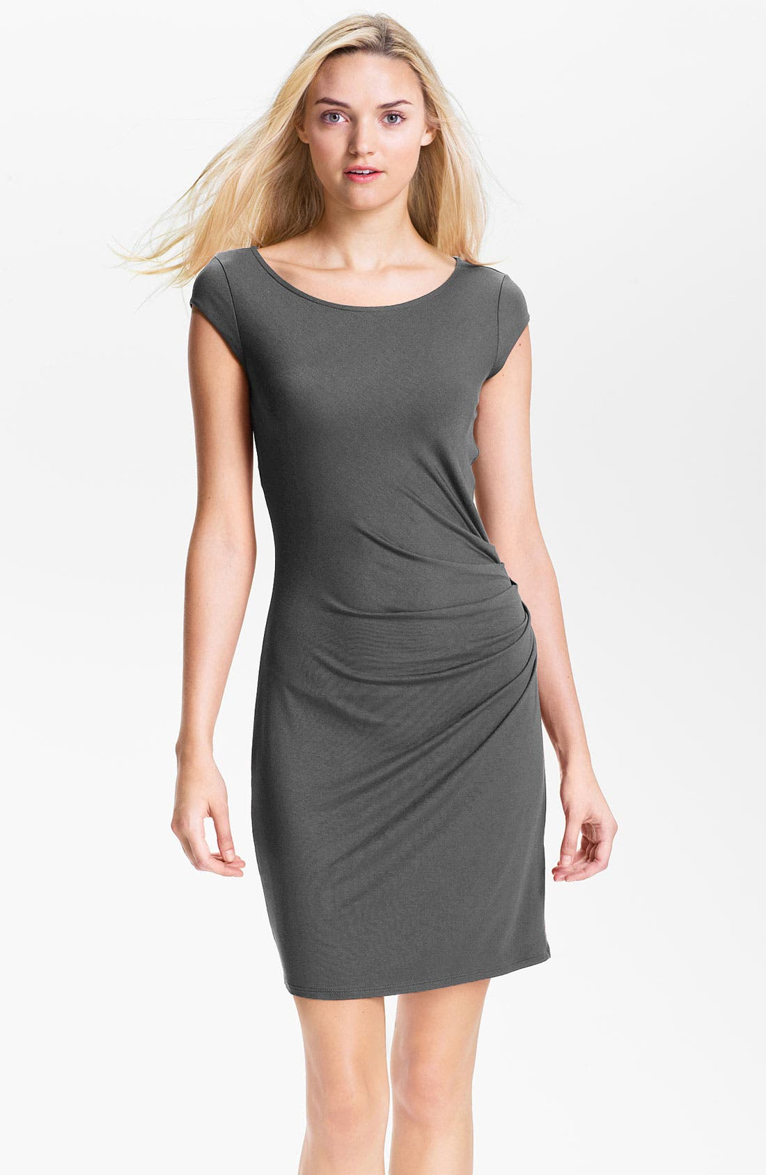 Alternate Image 1 Selected - Three Dots Side Ruched Jersey Dress