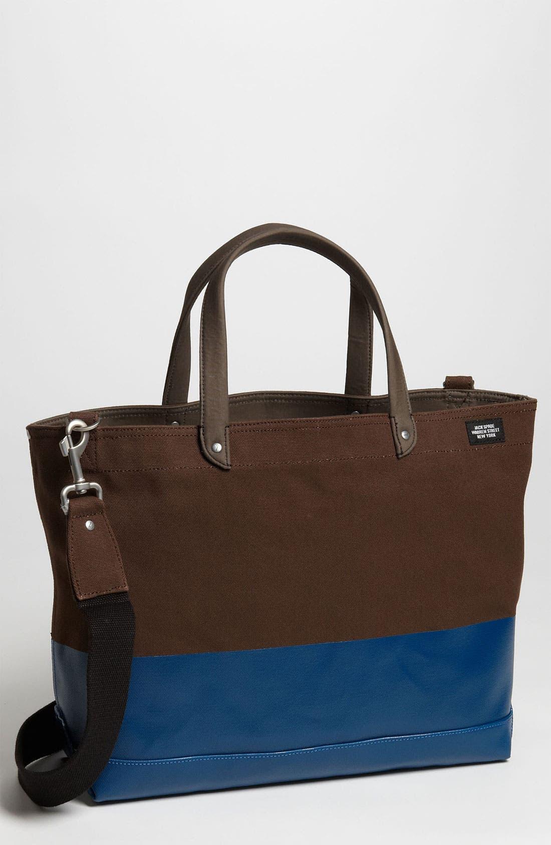 Main Image - Jack Spade 'Industrial Dipped Coal' Canvas Bag