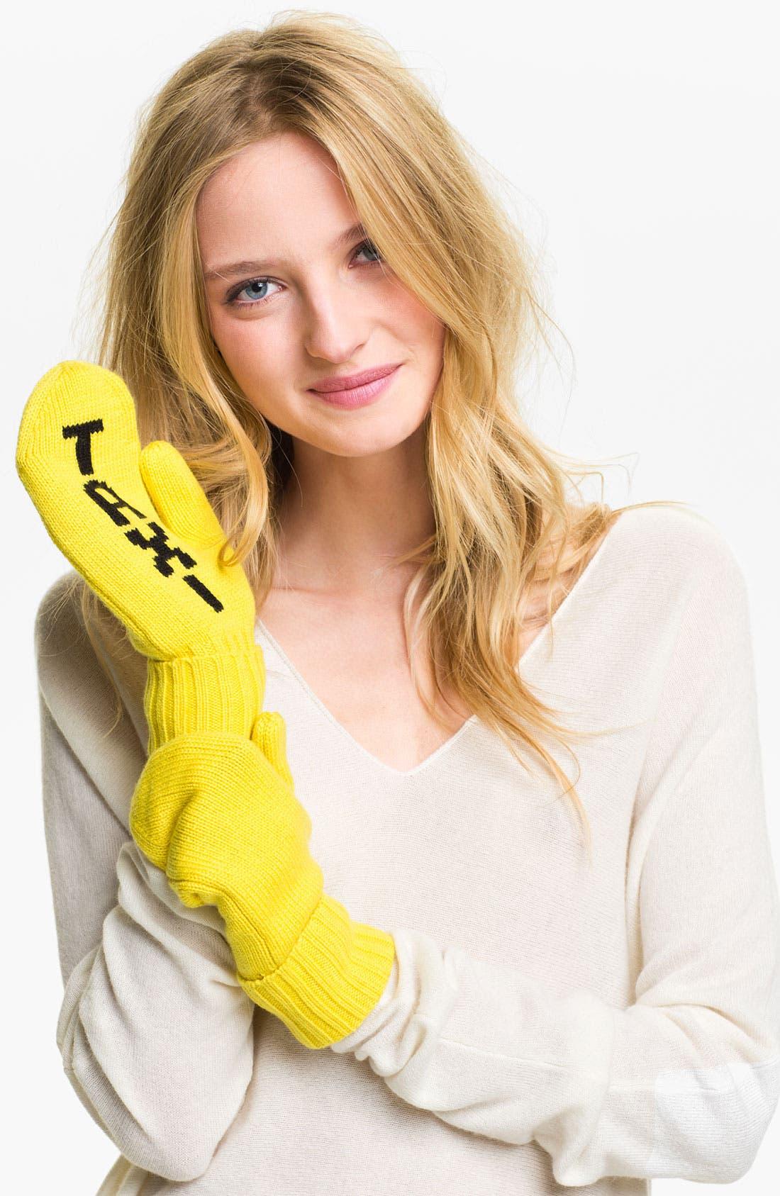 Alternate Image 1 Selected - kate spade new york 'big apple - taxi' wool mittens