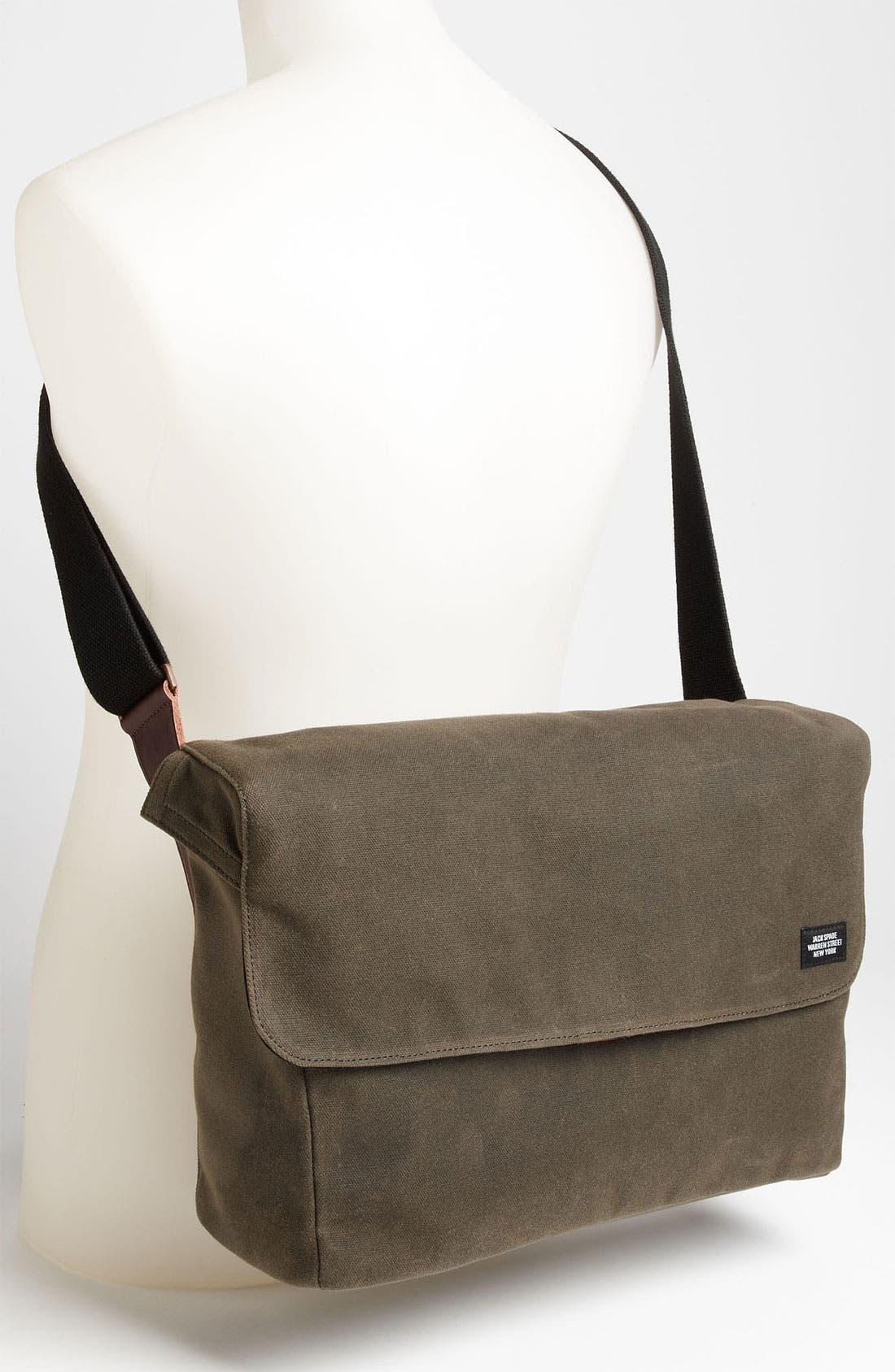 Alternate Image 4  - Jack Spade 'Cap' Canvas Messenger Bag