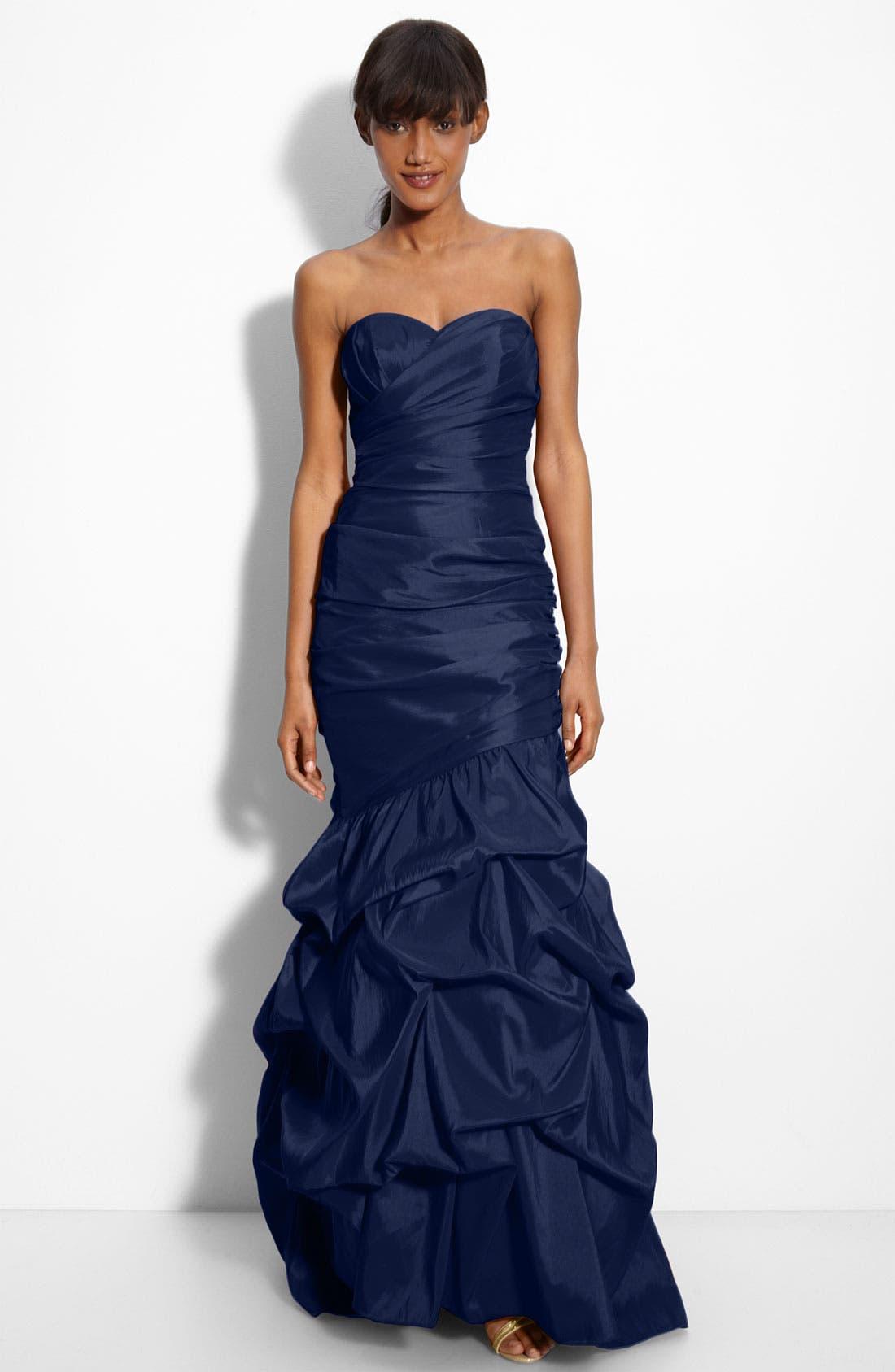 Alternate Image 1 Selected - Dalia MacPhee Strapless Taffeta Mermaid Gown