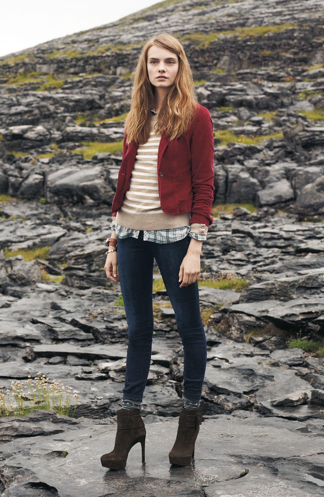 Alternate Image 3  - Caslon® Boatneck Cashmere Sweater