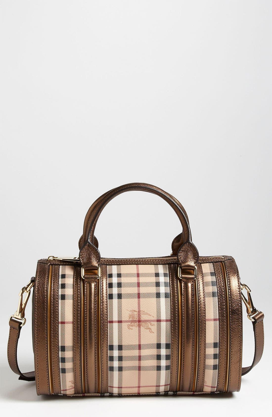 Main Image - Burberry 'Haymarket Check' Bowling Bag