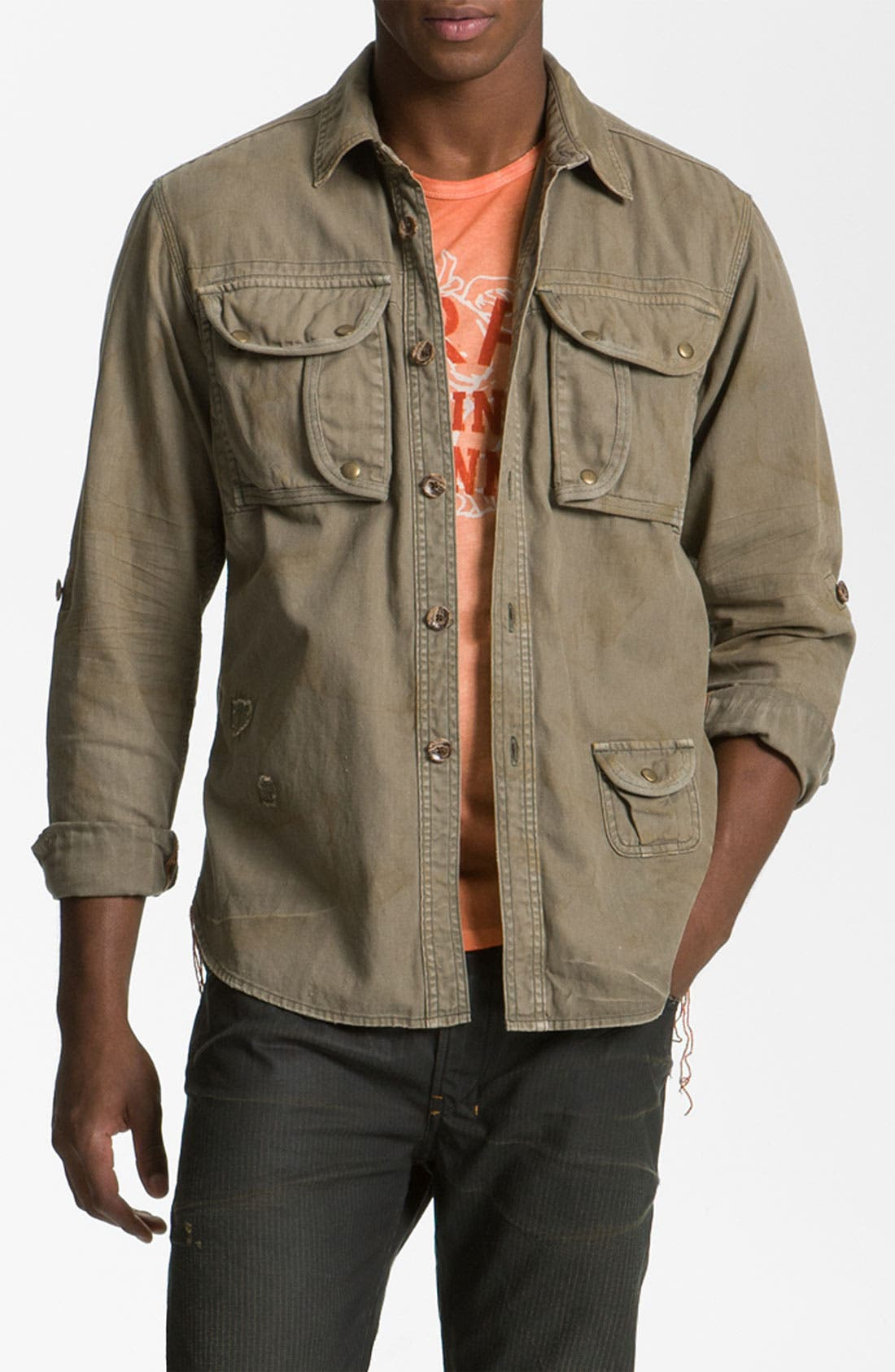 Alternate Image 1 Selected - PRPS Woven Utility Shirt