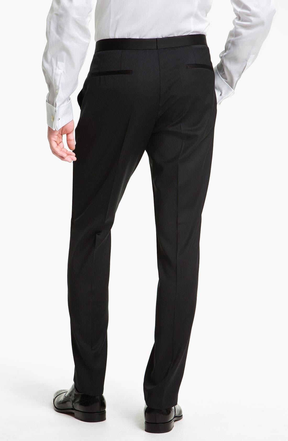 Alternate Image 5  - BOSS Black 'The Joy/Gala' Trim Fit Stripe Tuxedo