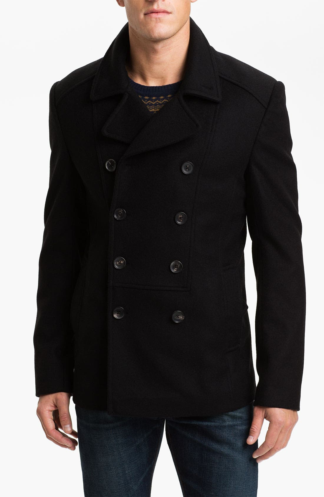 Main Image - Ted Baker London 'Outlig' Double Breasted Wool Blend Coat