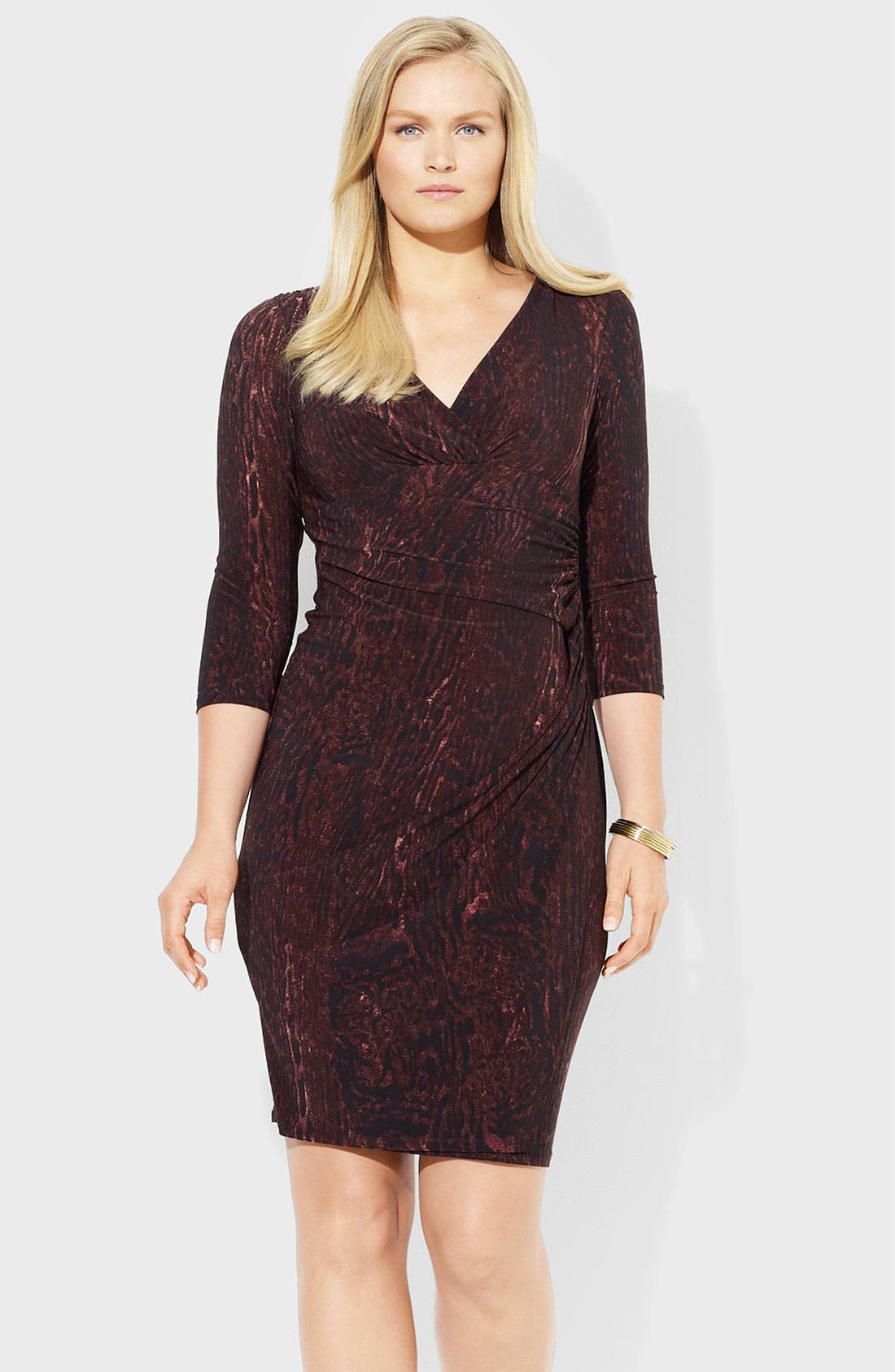 Alternate Image 1 Selected - Lauren Ralph Lauren Jersey Sheath Dress (Plus)