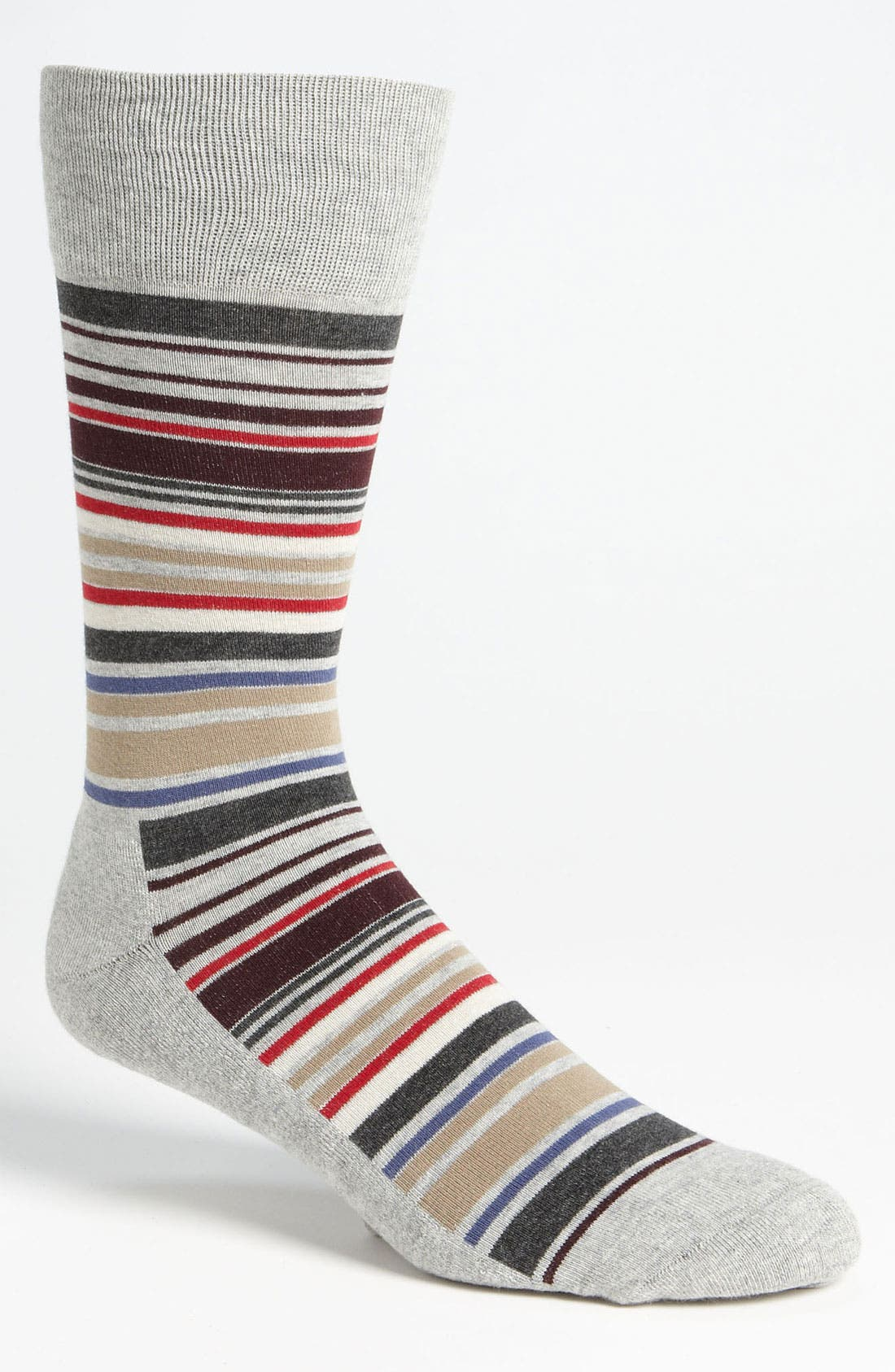 Alternate Image 1 Selected - Nordstrom Cushioned Multi Stripe Socks