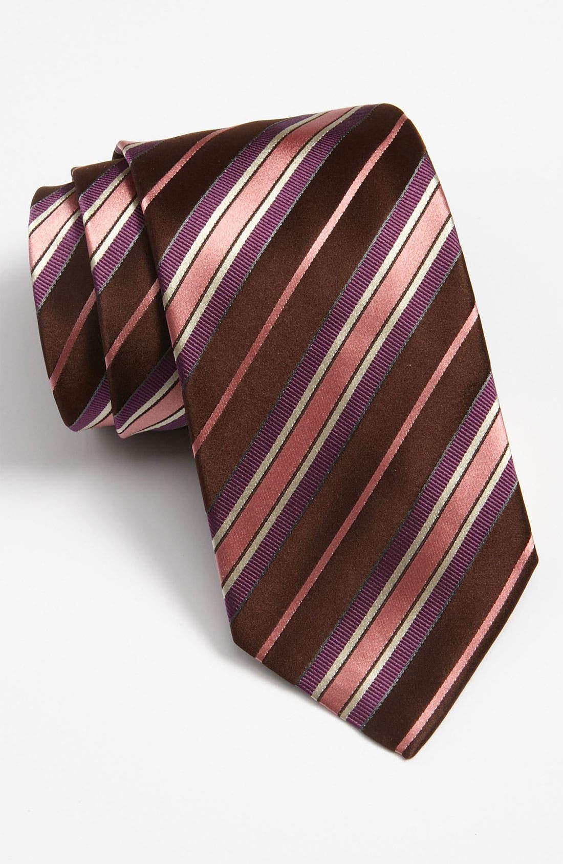 Main Image - BOSS Black Woven Silk Tie