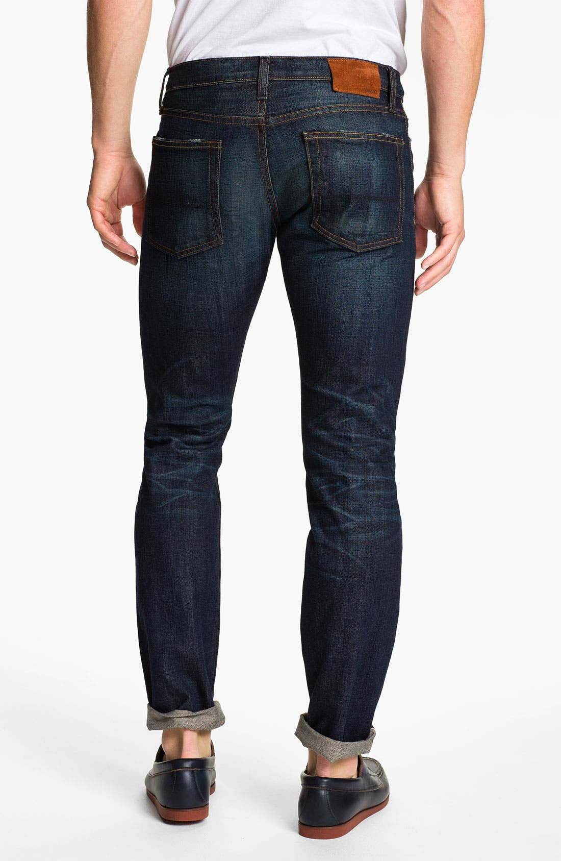 Alternate Image 2  - Vince Selvedge Slim Straight Leg Jeans (One Year)