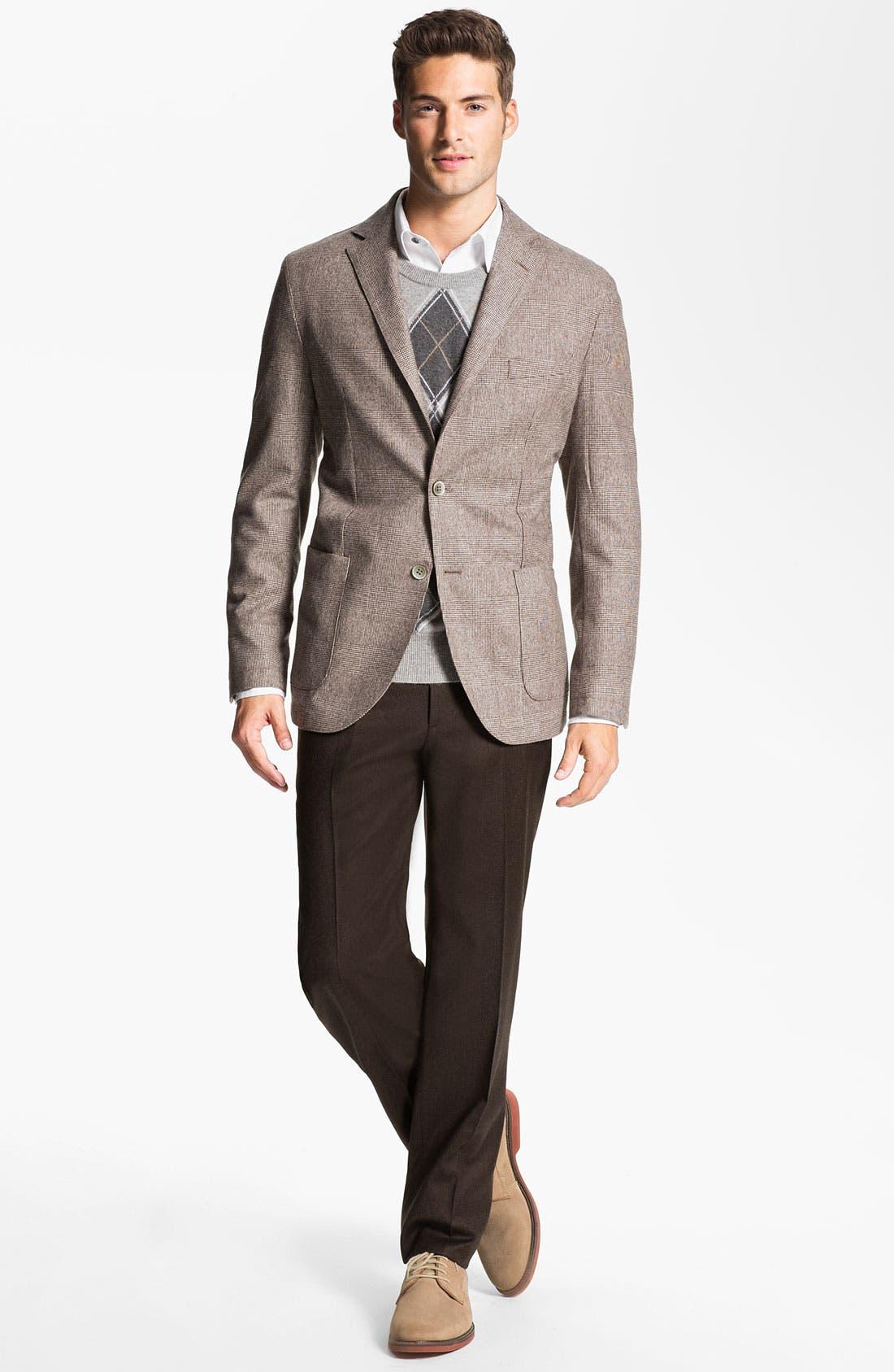 Alternate Image 4  - Lubiam 'Prince of Wales' Wool Sportcoat