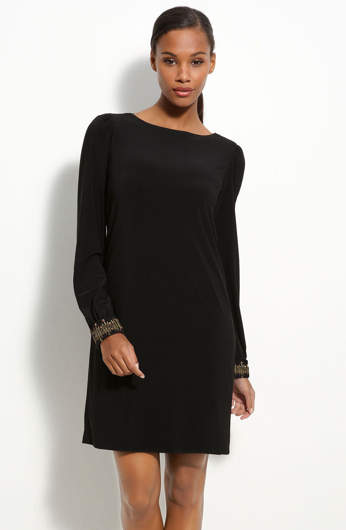 Alternate Image 1 Selected - Maggy London Embellished Jersey Shift Dress