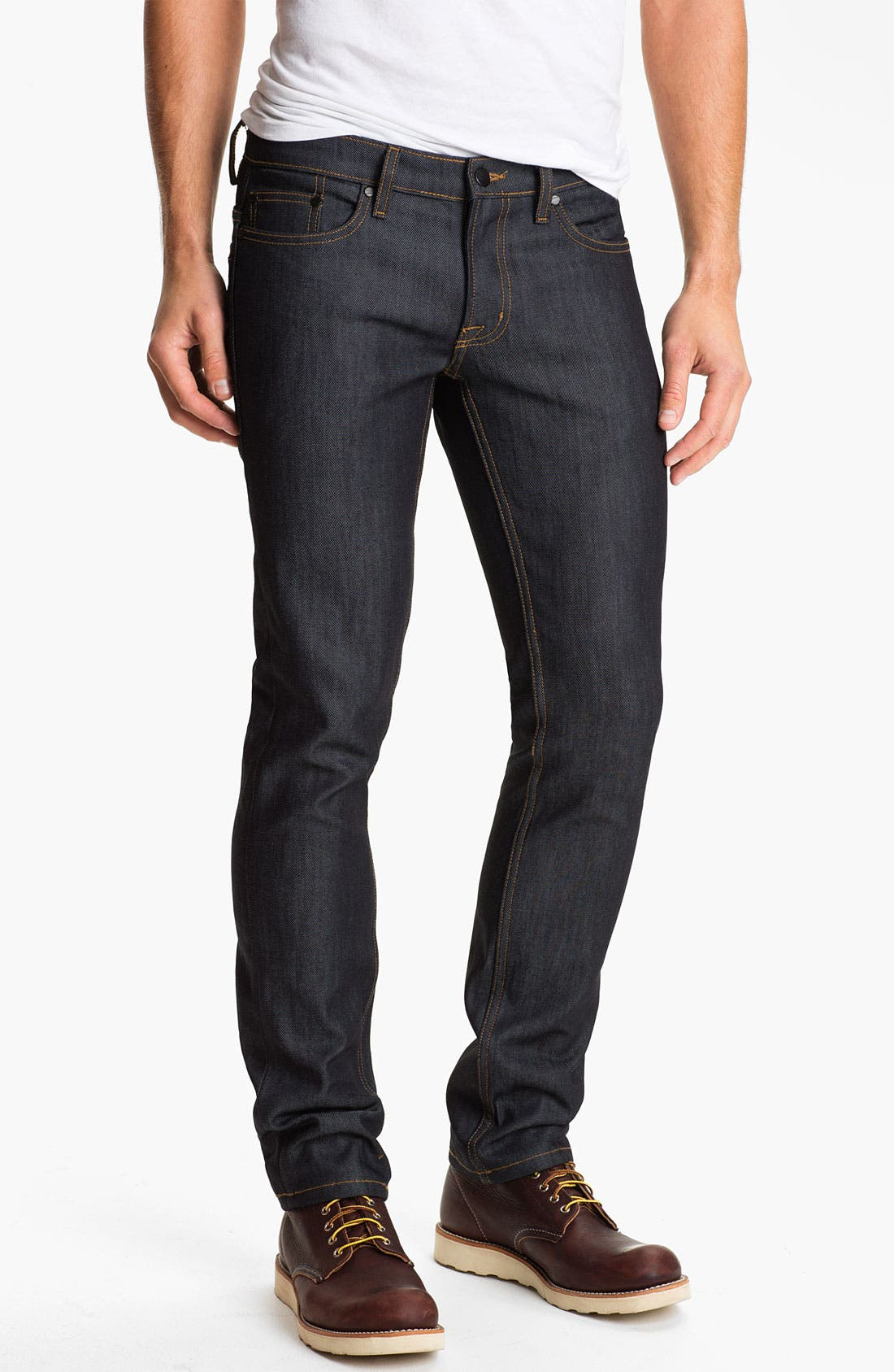 Alternate Image 2  - Comune 'Lindon' Slim Straight Leg Jeans (Dark Indigo)