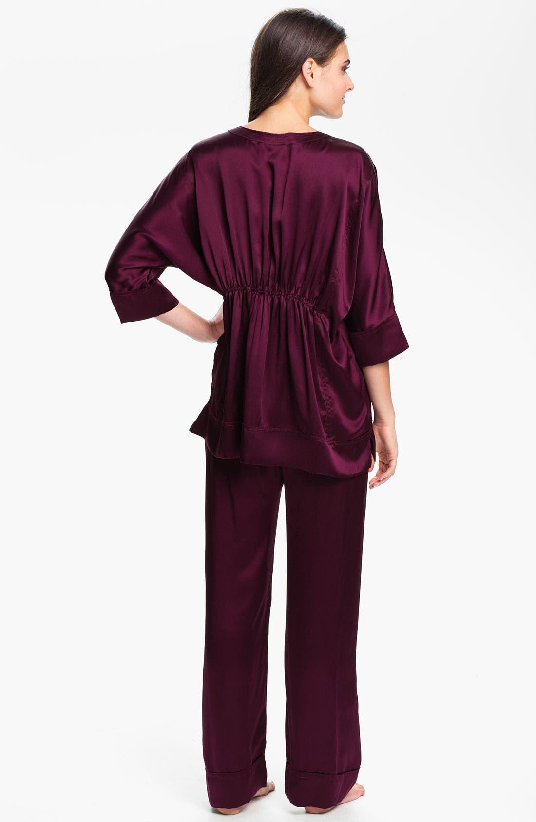 Alternate Image 2  - Donna Karan 'Glamour' Silk Pajamas