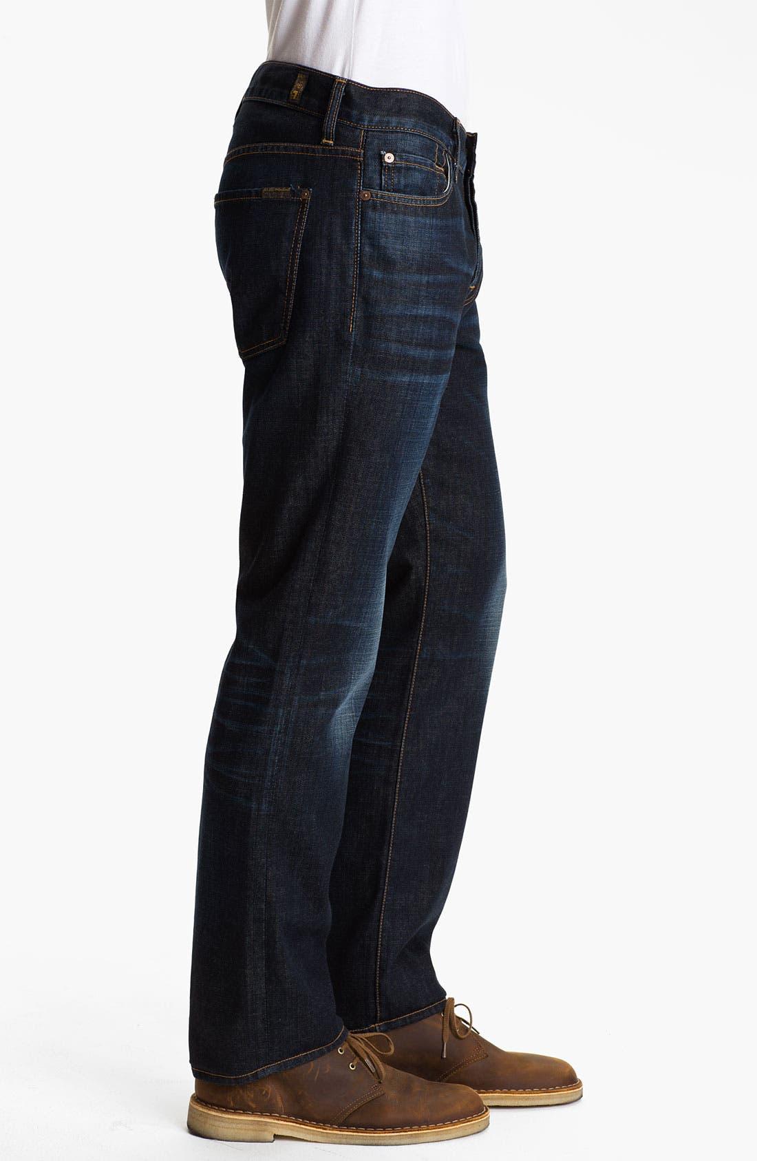 Alternate Image 3  - 7 For All Mankind® 'Standard' Straight Leg Jeans (Porterville)