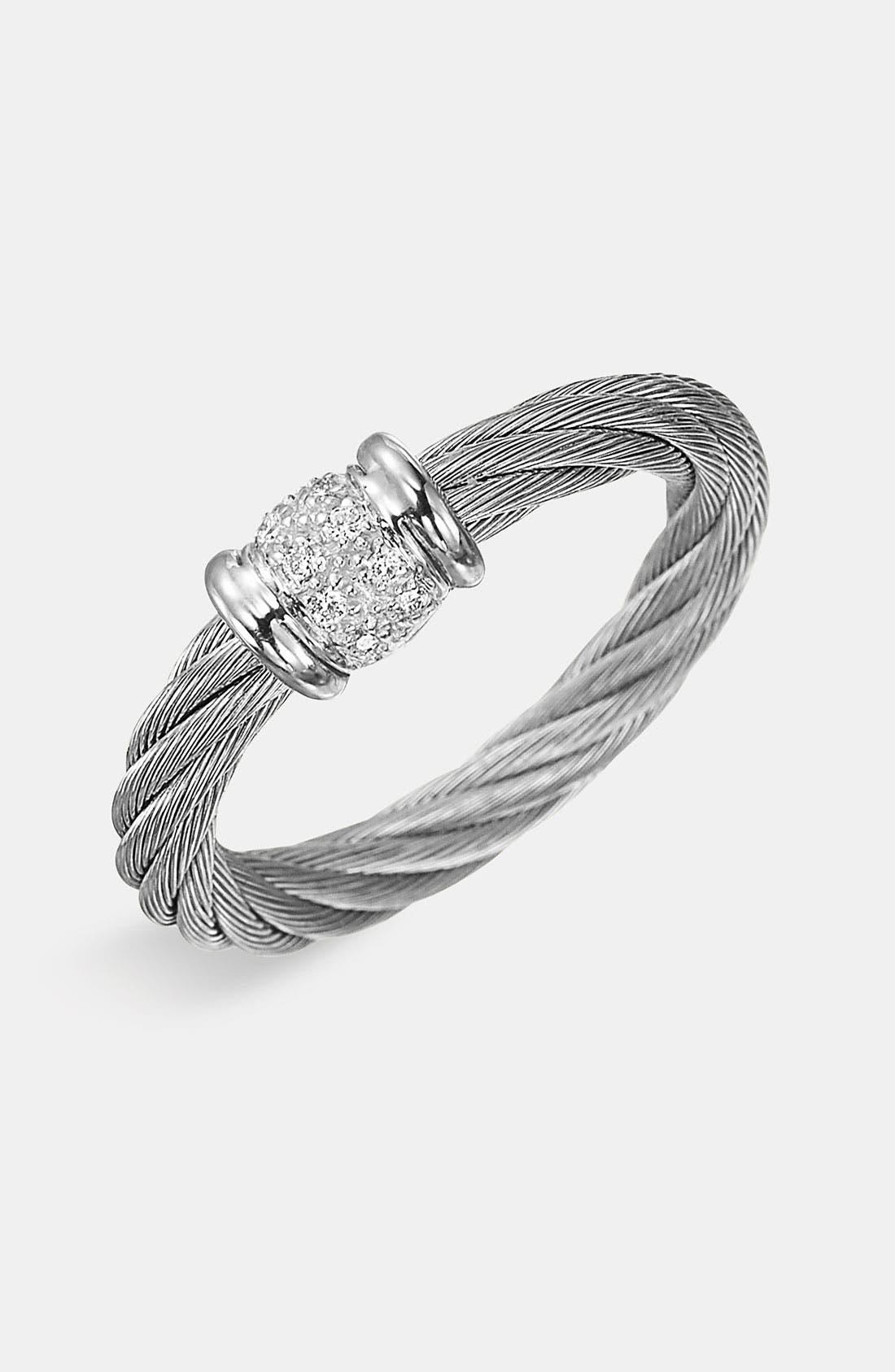 Main Image - ALOR® Small Diamond Stackable Ring