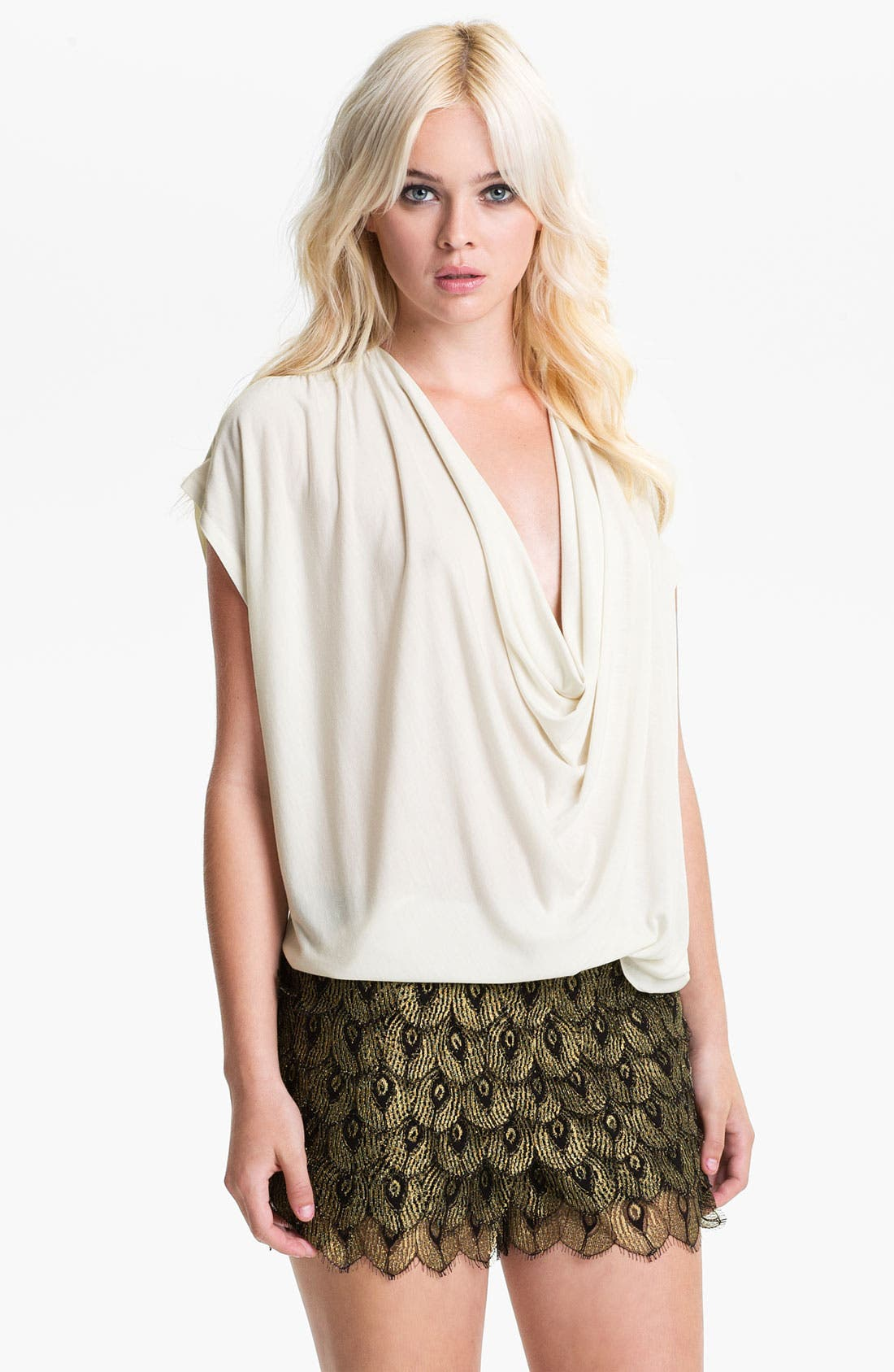 Main Image - Haute Hippie Draped Silk Top