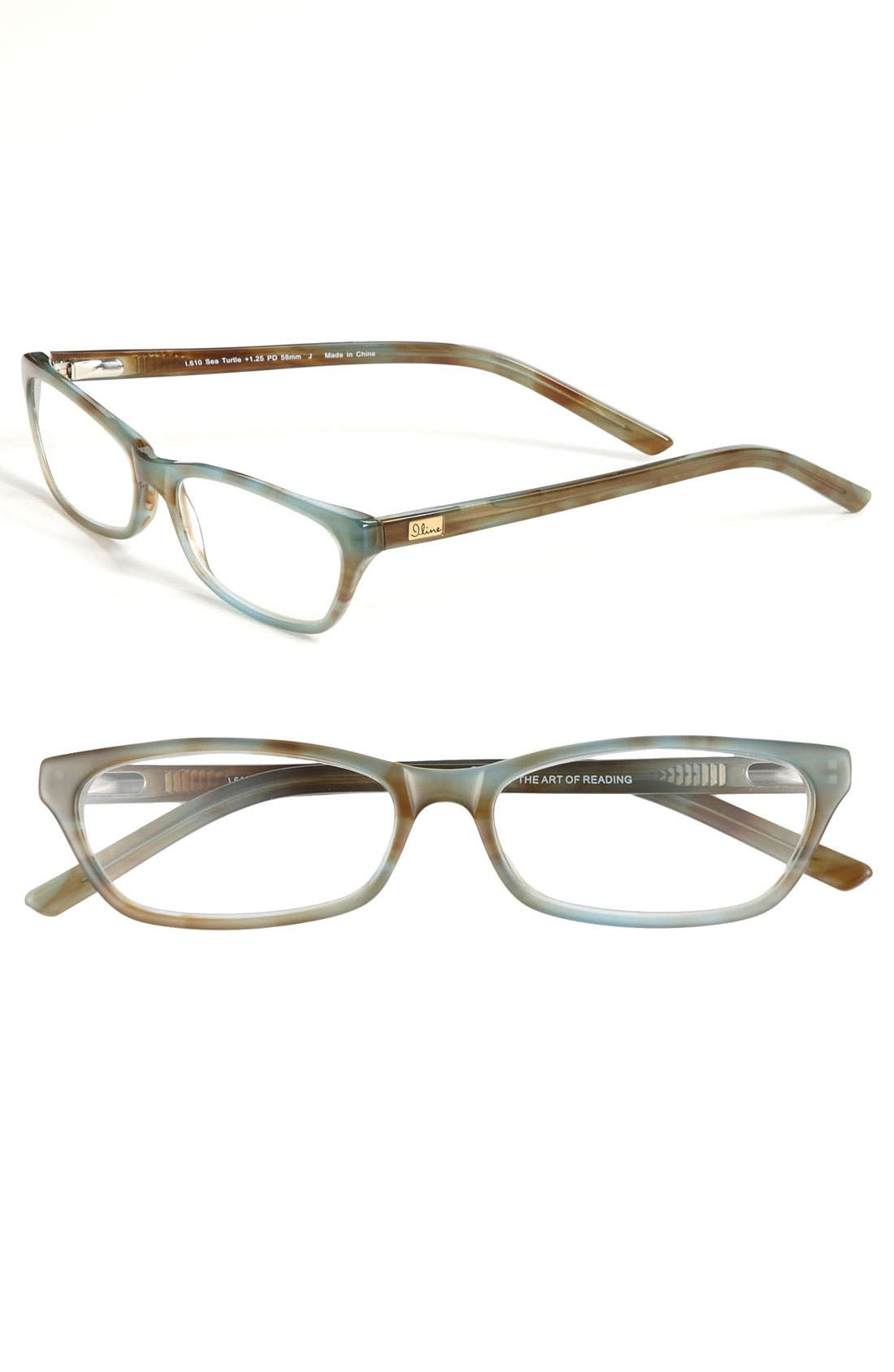 Alternate Image 1 Selected - I Line Eyewear 'Sea Turtle' 54mm Reading Glasses
