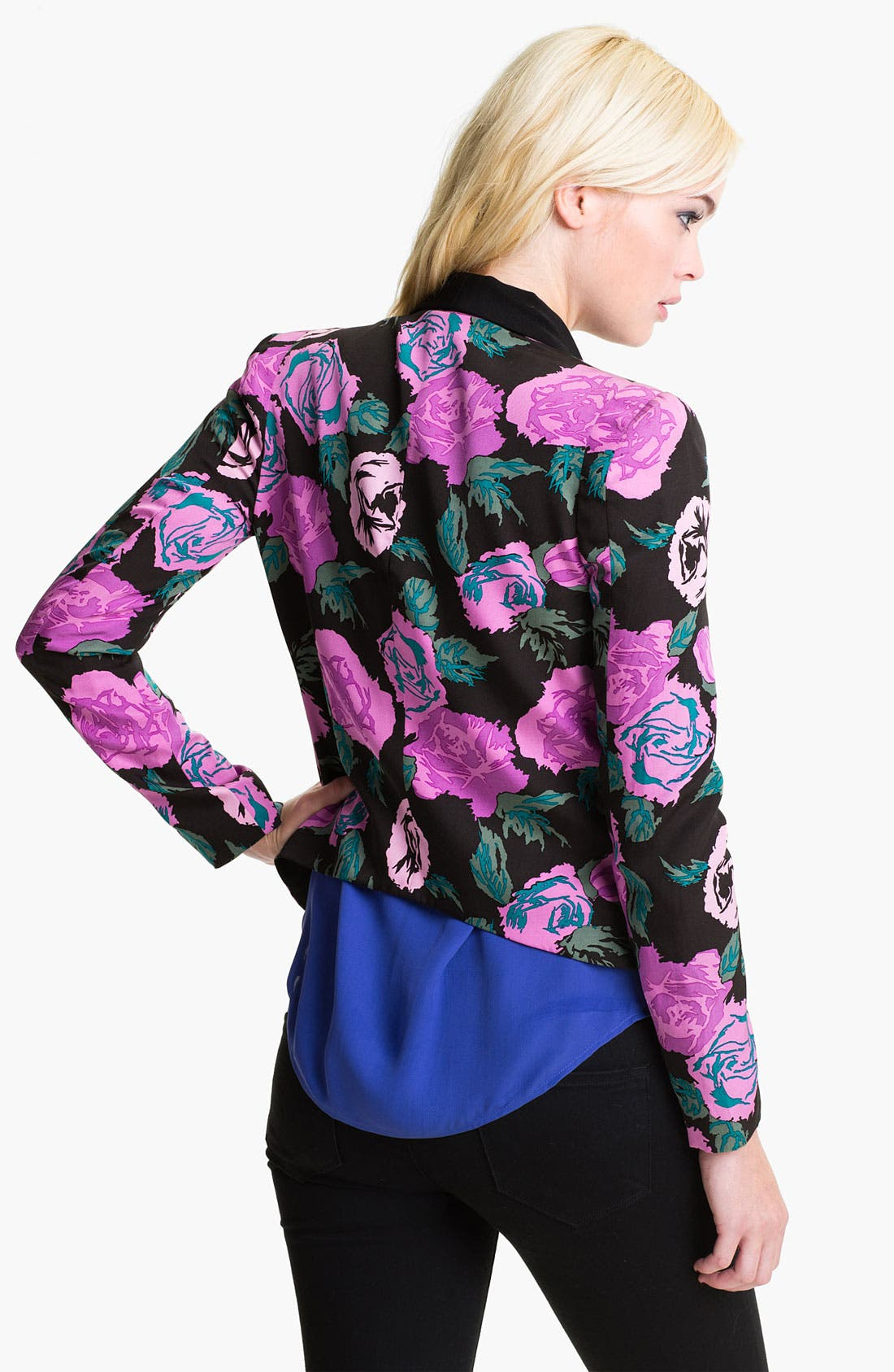 Alternate Image 2  - Rebecca Minkoff 'Becky' Print Silk Jacket