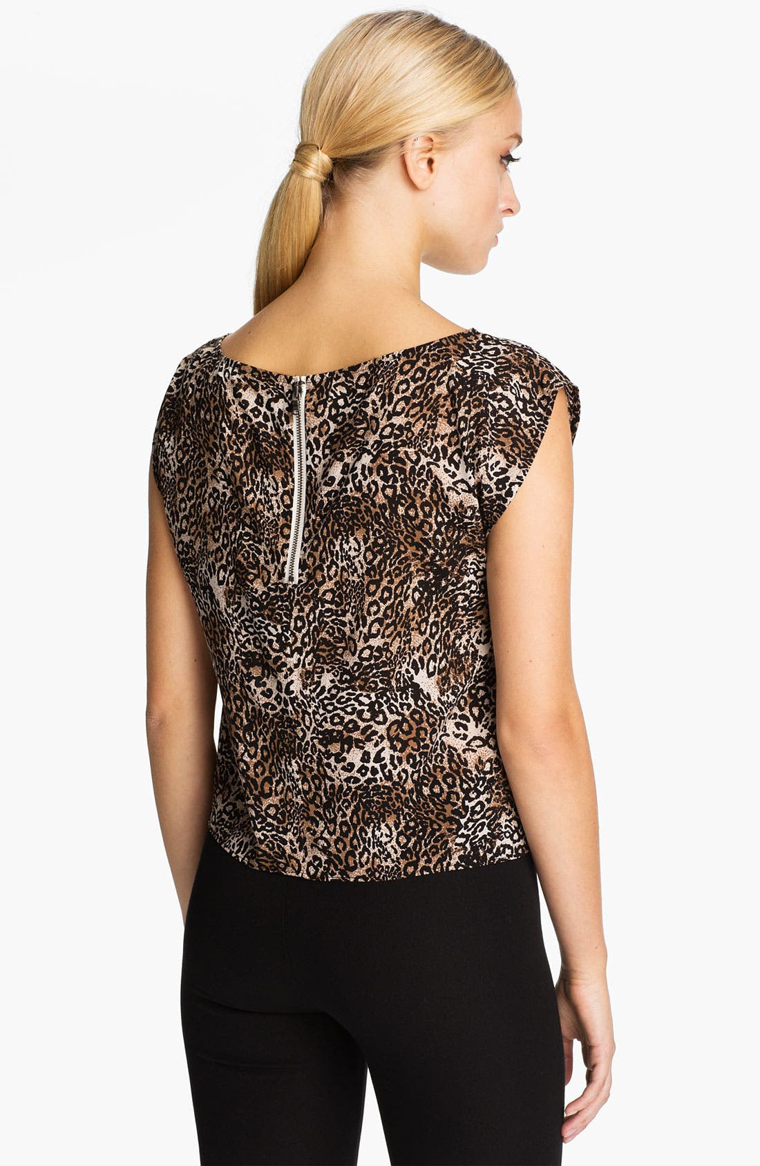Alternate Image 2  - Alice + Olivia 'Kinsley' Cheetah Print Top