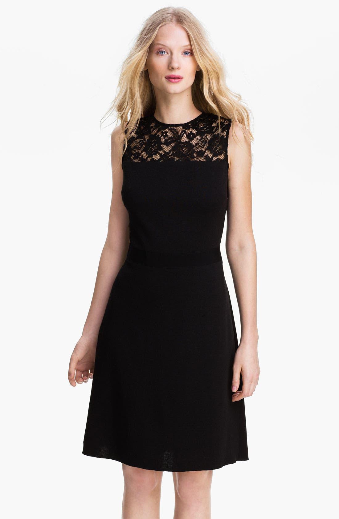 Main Image - Tory Burch 'Adrianna' Wool Blend A-Line Dress