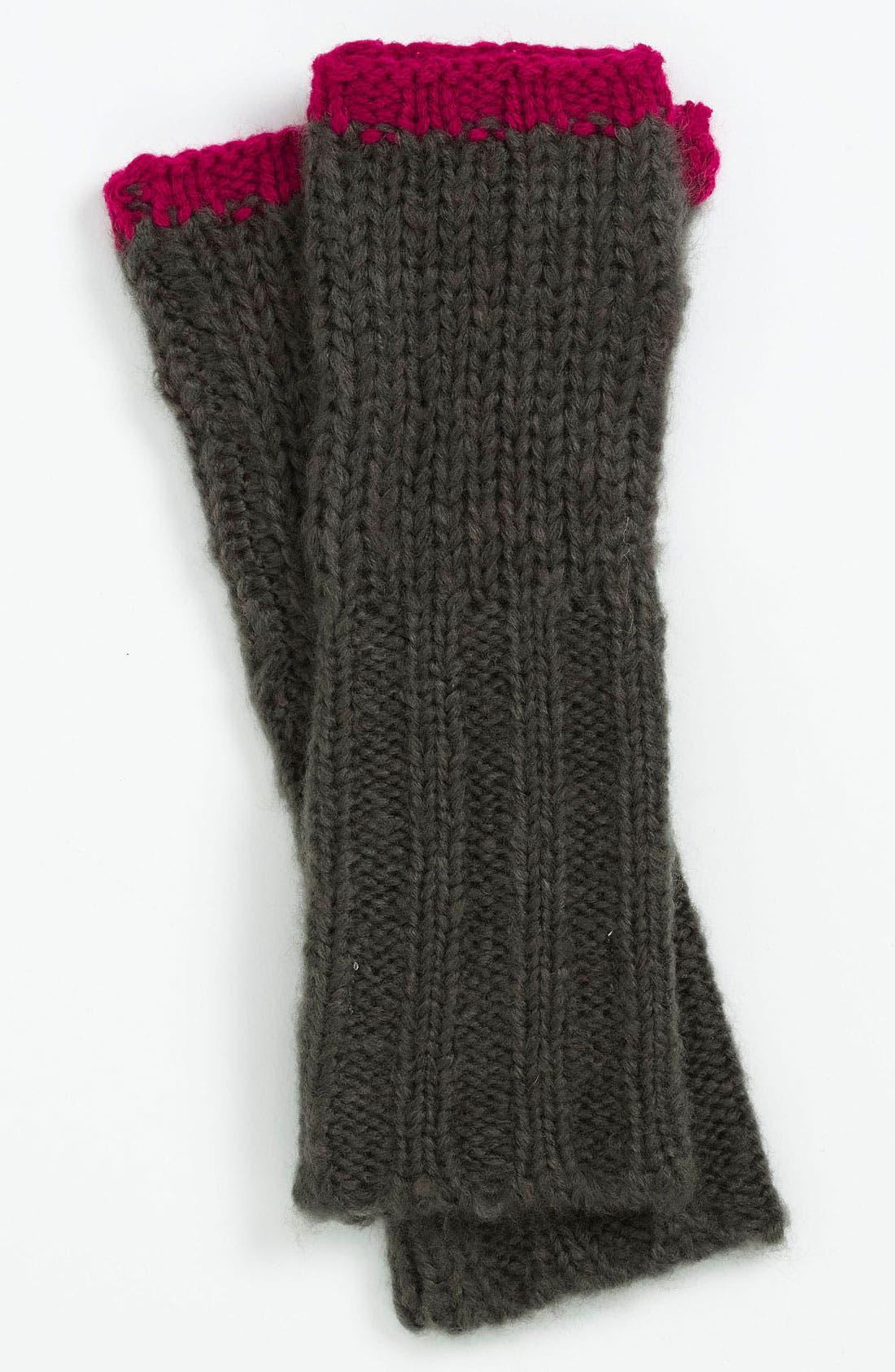 Main Image - Michael Stars Pop Accent Fingerless Gloves