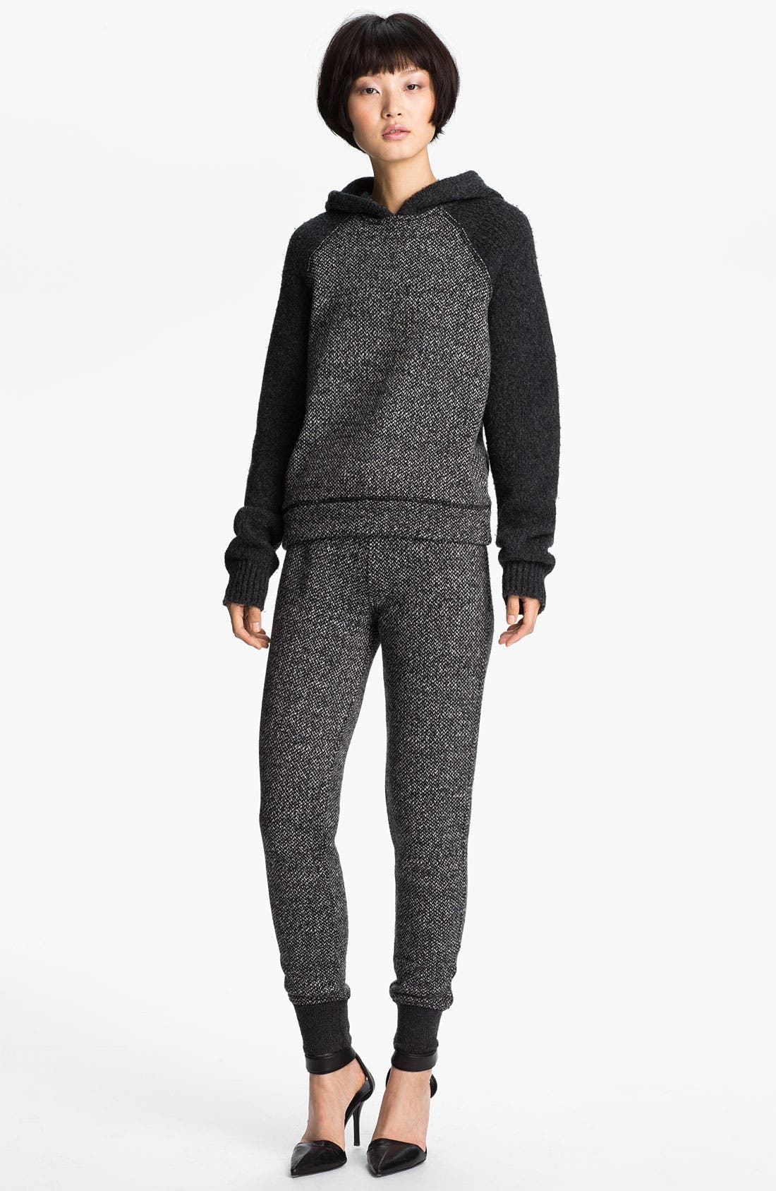 Alternate Image 1 Selected - T by Alexander Wang Tweed Print Hoodie