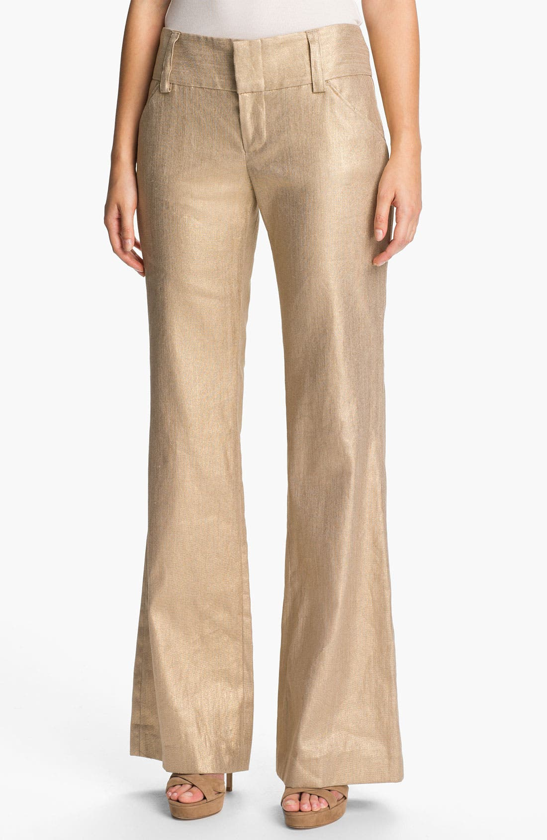 Alternate Image 1 Selected - Alice + Olivia 'Olivia' Wide Leg Stretch Pants