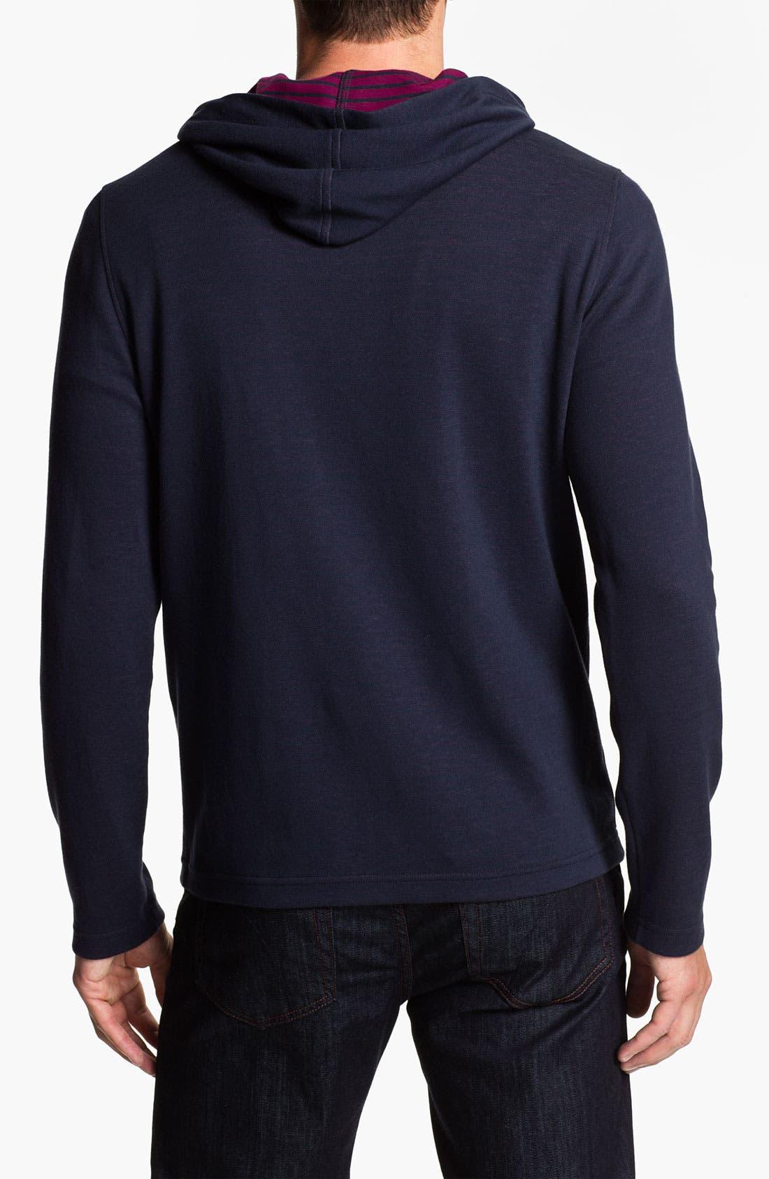 Alternate Image 2  - Lacoste Slim Fit Zip Hoodie