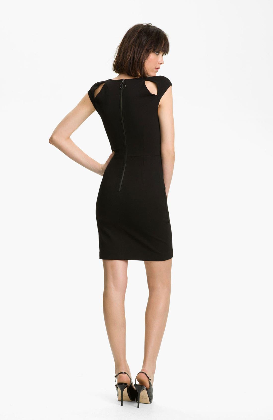 Alternate Image 2  - Kelly Wearstler Sueded Twill Dress