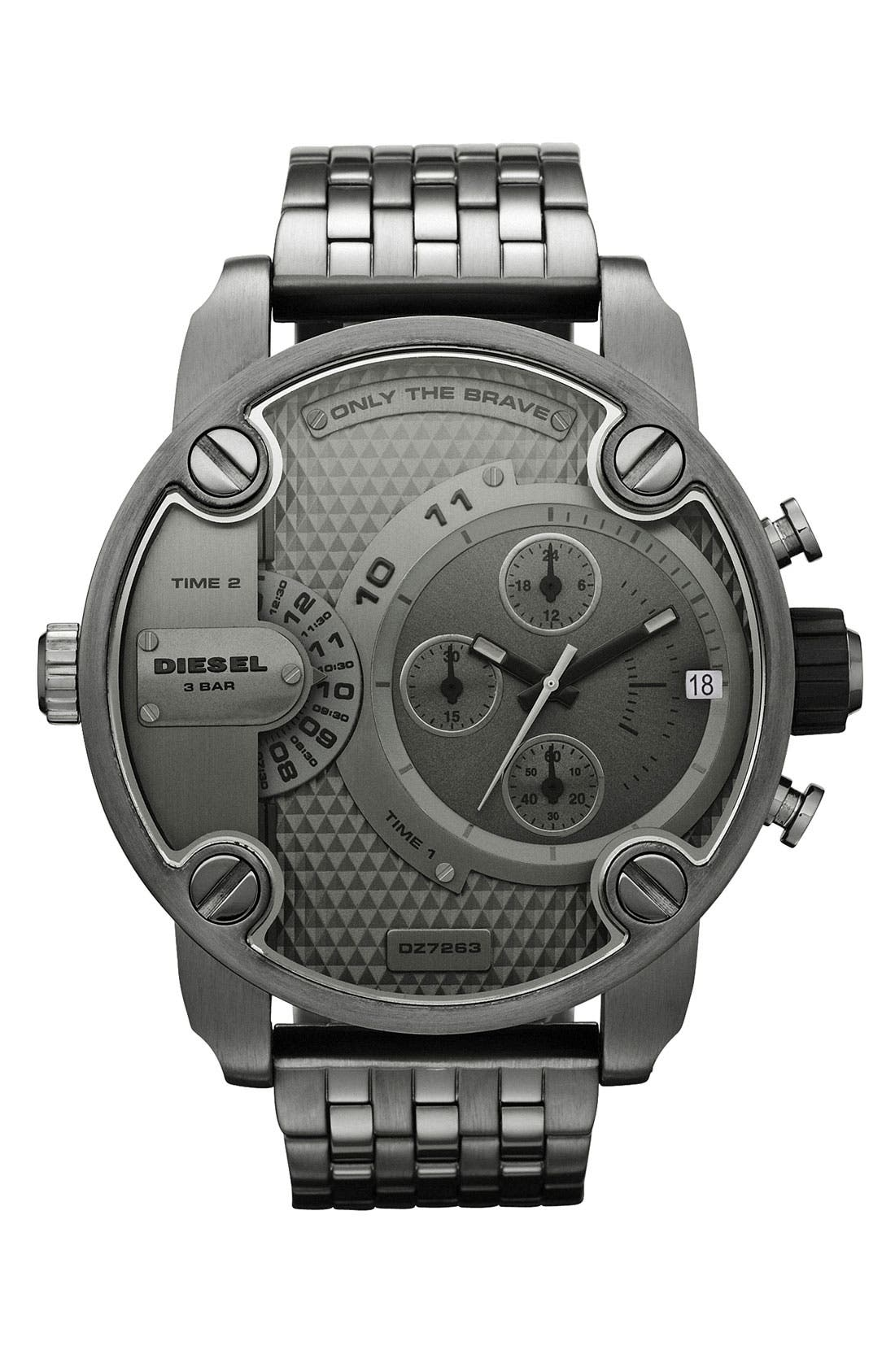 Alternate Image 1 Selected - DIESEL® 'Little Daddy' Chronograph Bracelet Watch, 51mm