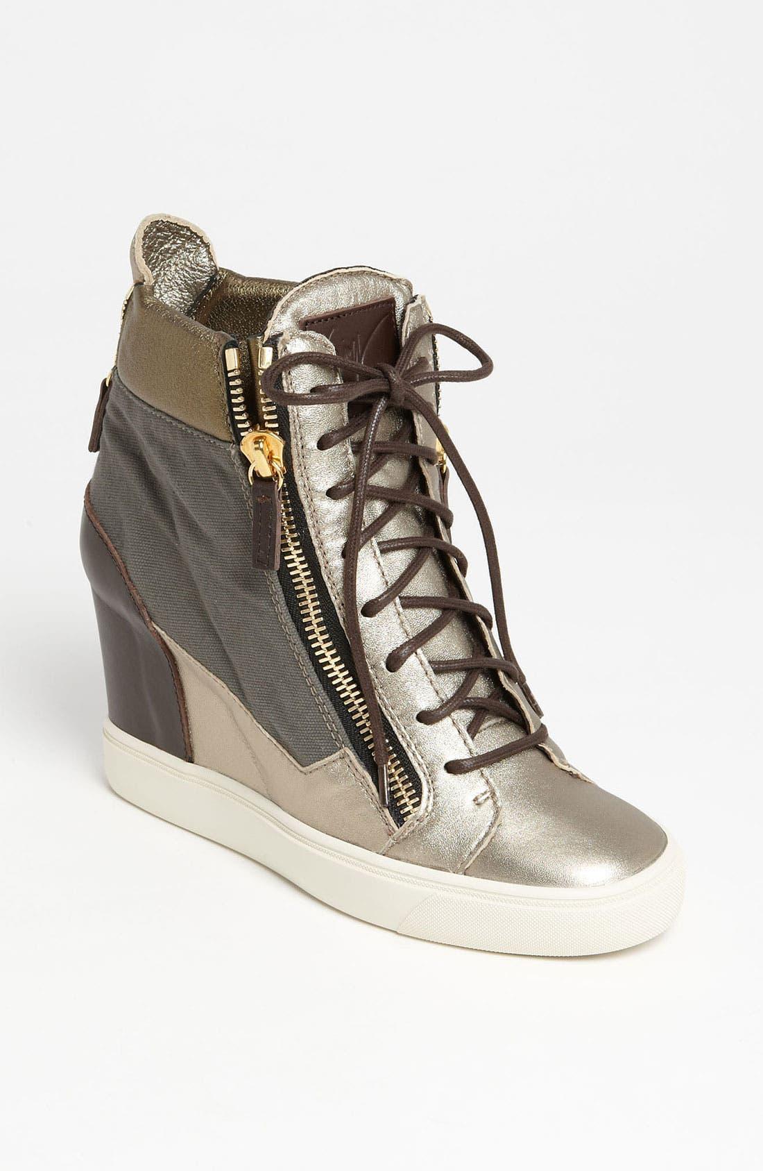 Alternate Image 1 Selected - Giuseppe Zanotti Wedge Sneaker
