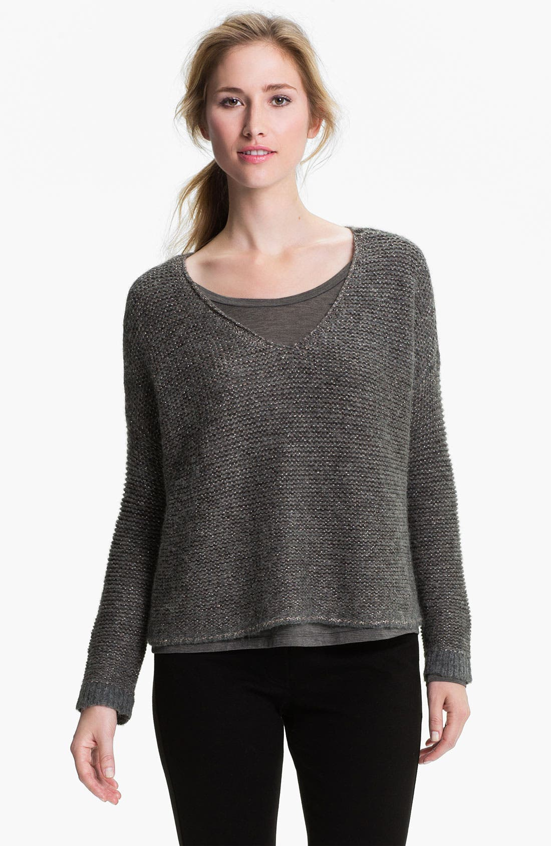 Main Image - Eileen Fisher 'Alpaca Sparkle' V-Neck Sweater