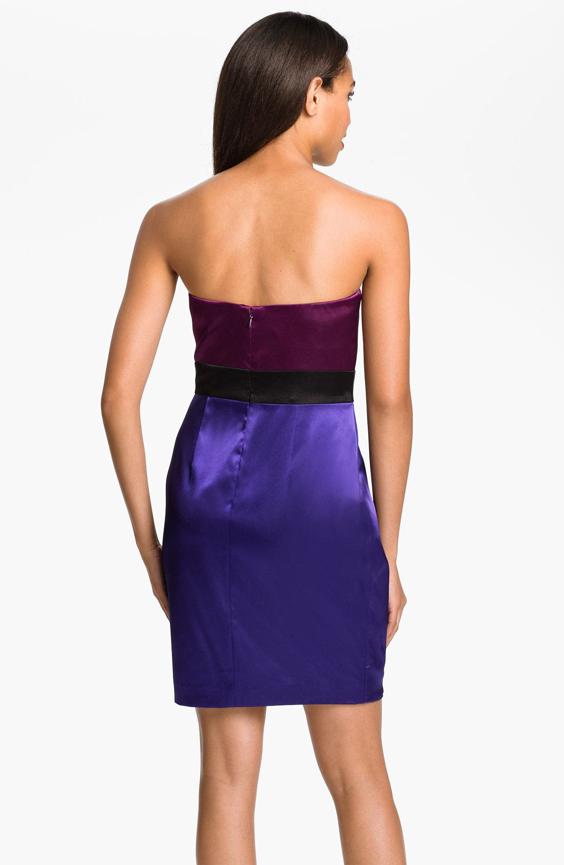 Alternate Image 2  - Hailey by Adrianna Papell Colorblock Satin Sheath Dress