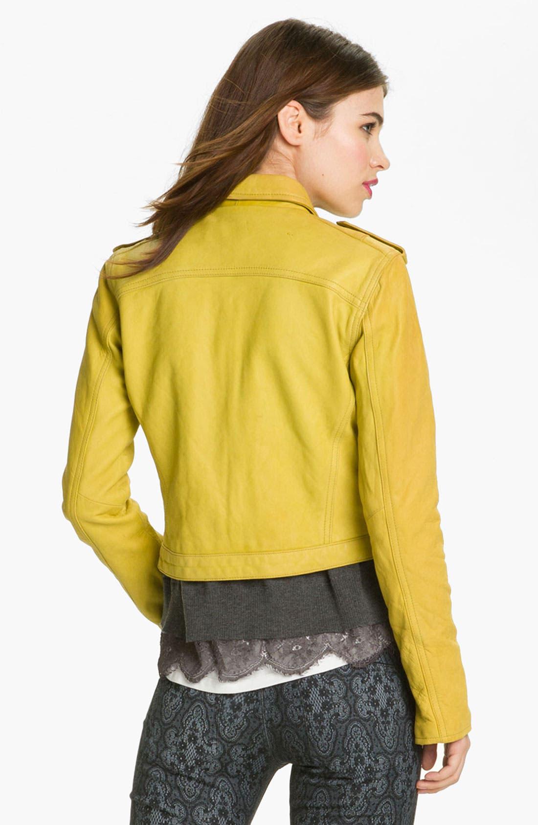 Alternate Image 2  - Current/Elliott Leather Moto Jacket