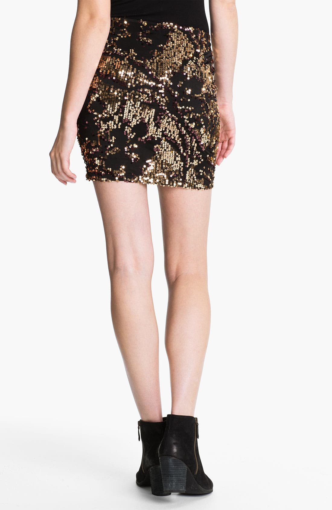 Alternate Image 2  - Lily White Sequin Skirt (Juniors)
