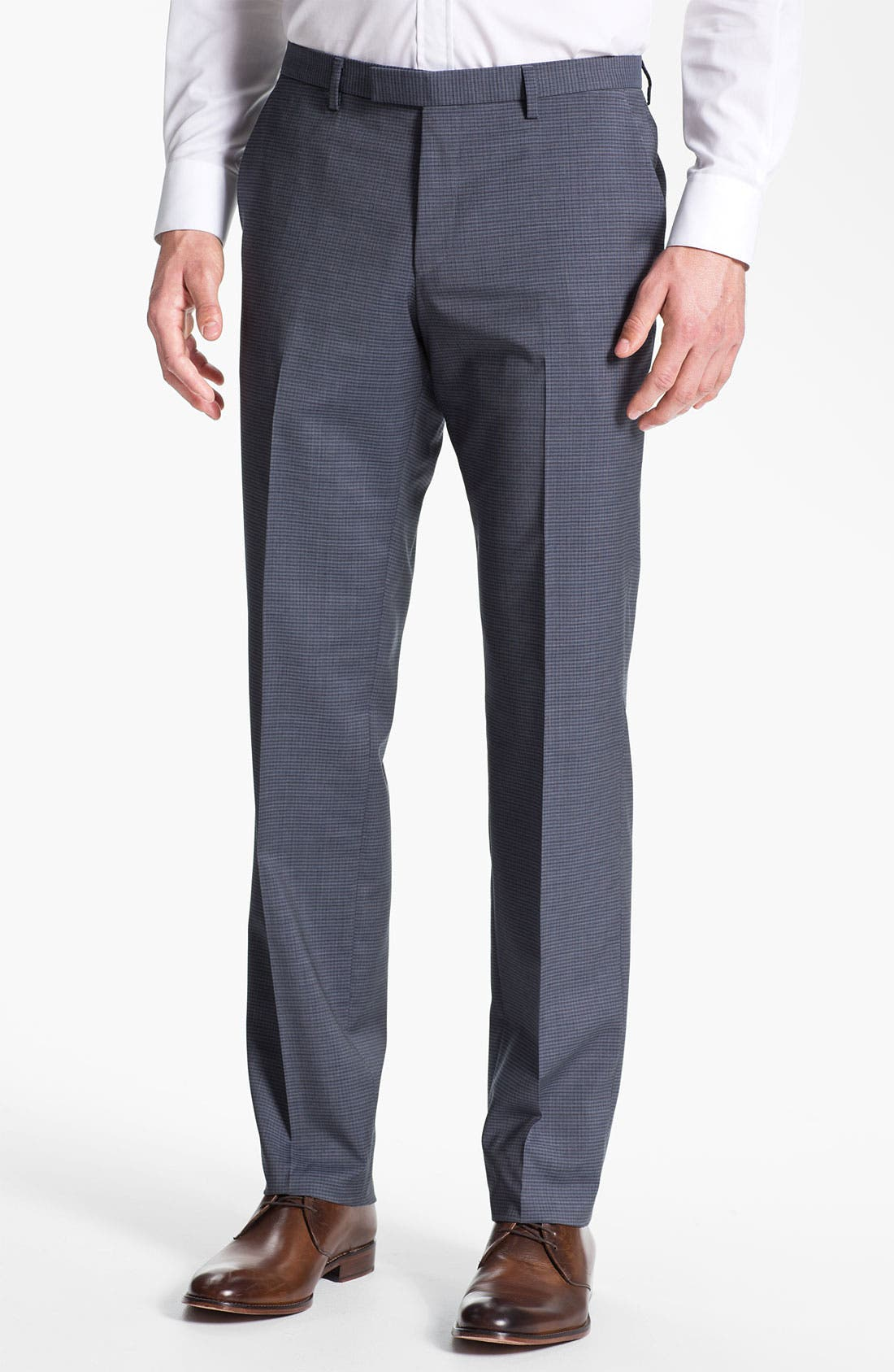 Alternate Image 1 Selected - BOSS Black 'Sharp' Flat Front Trousers