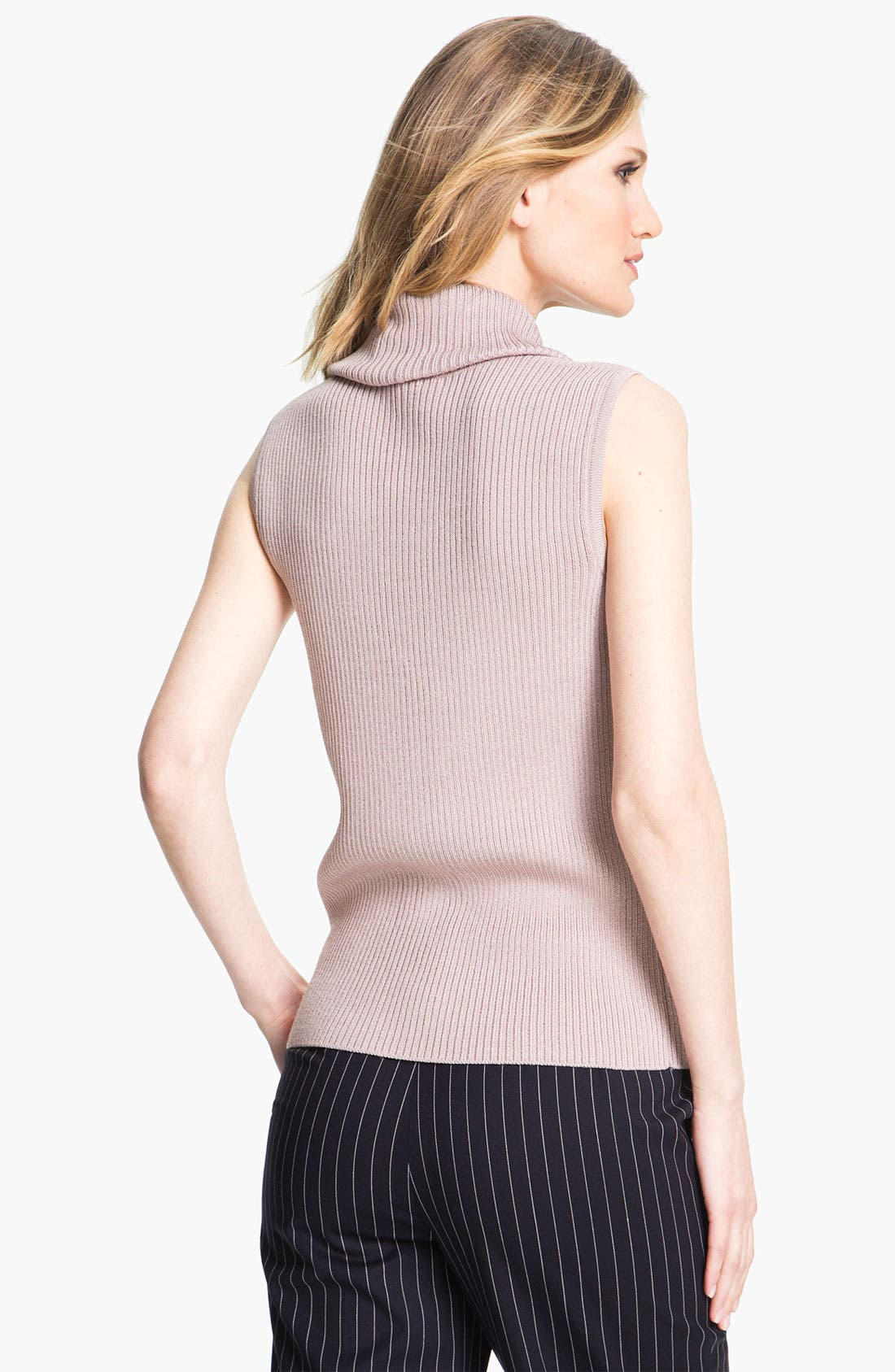 Alternate Image 3  - St. John Collection Cowl Neck Rib Knit Shell