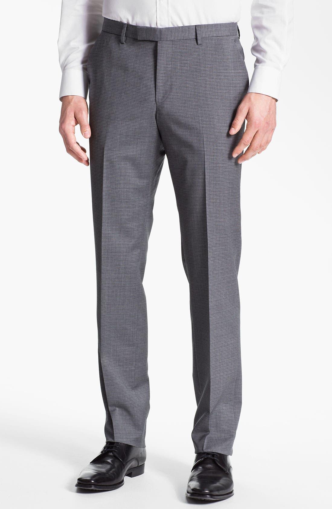 Main Image - BOSS Black 'Sharp' Flat Front Trousers