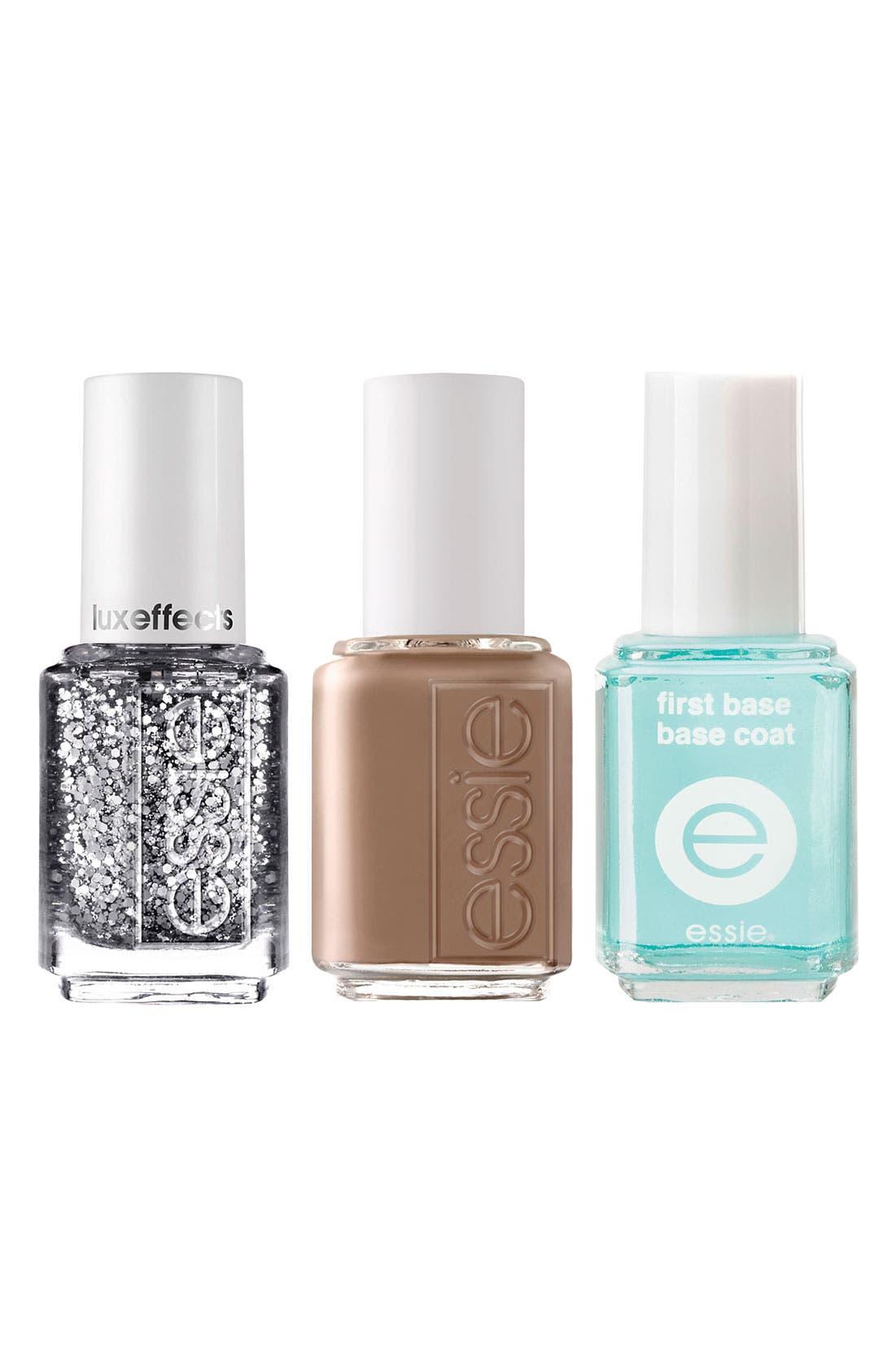 Main Image - essie® 'Razzle Dazzle Manicure - Neutral & Silver' Nail Trio